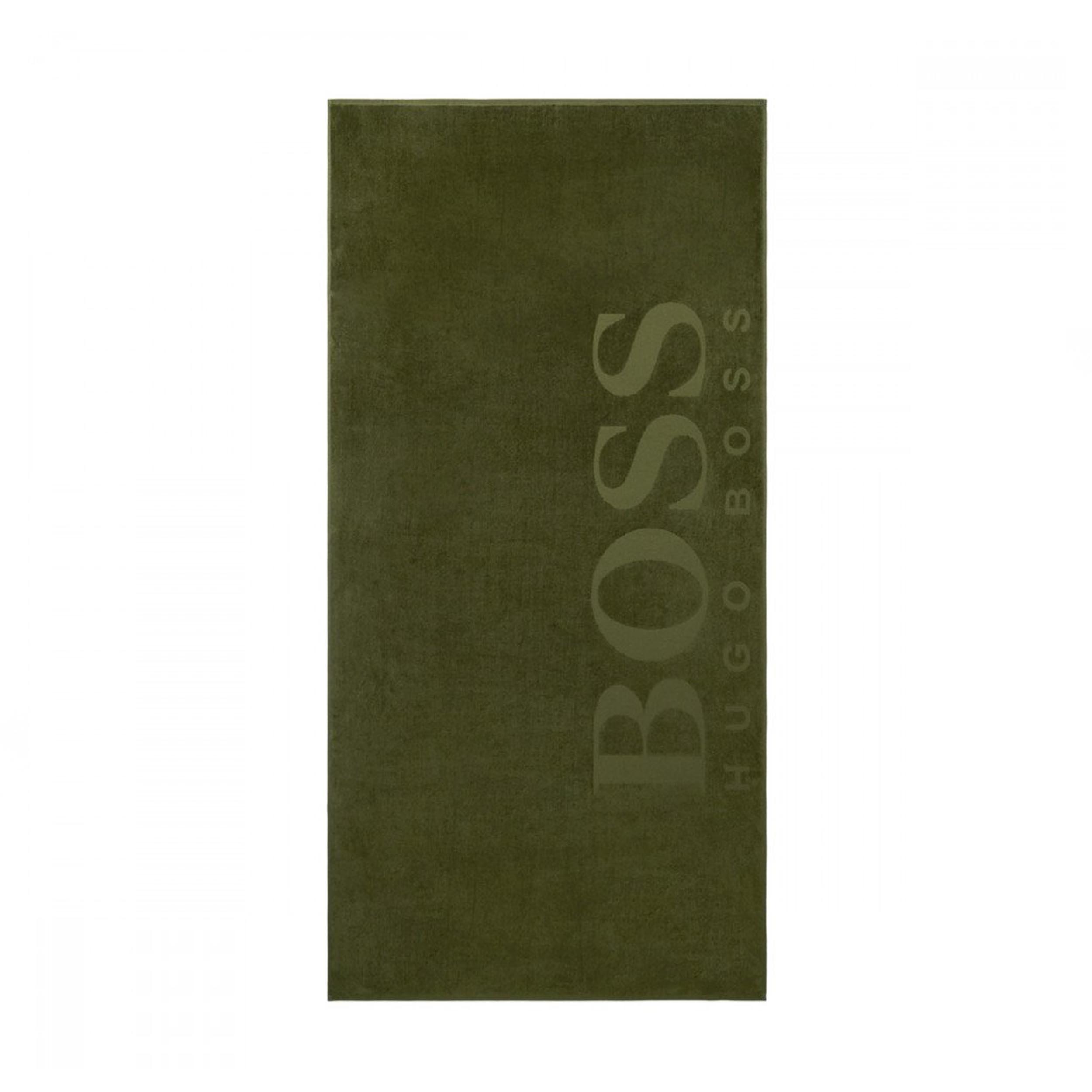 Drap de plage  carved en coton vert kaki