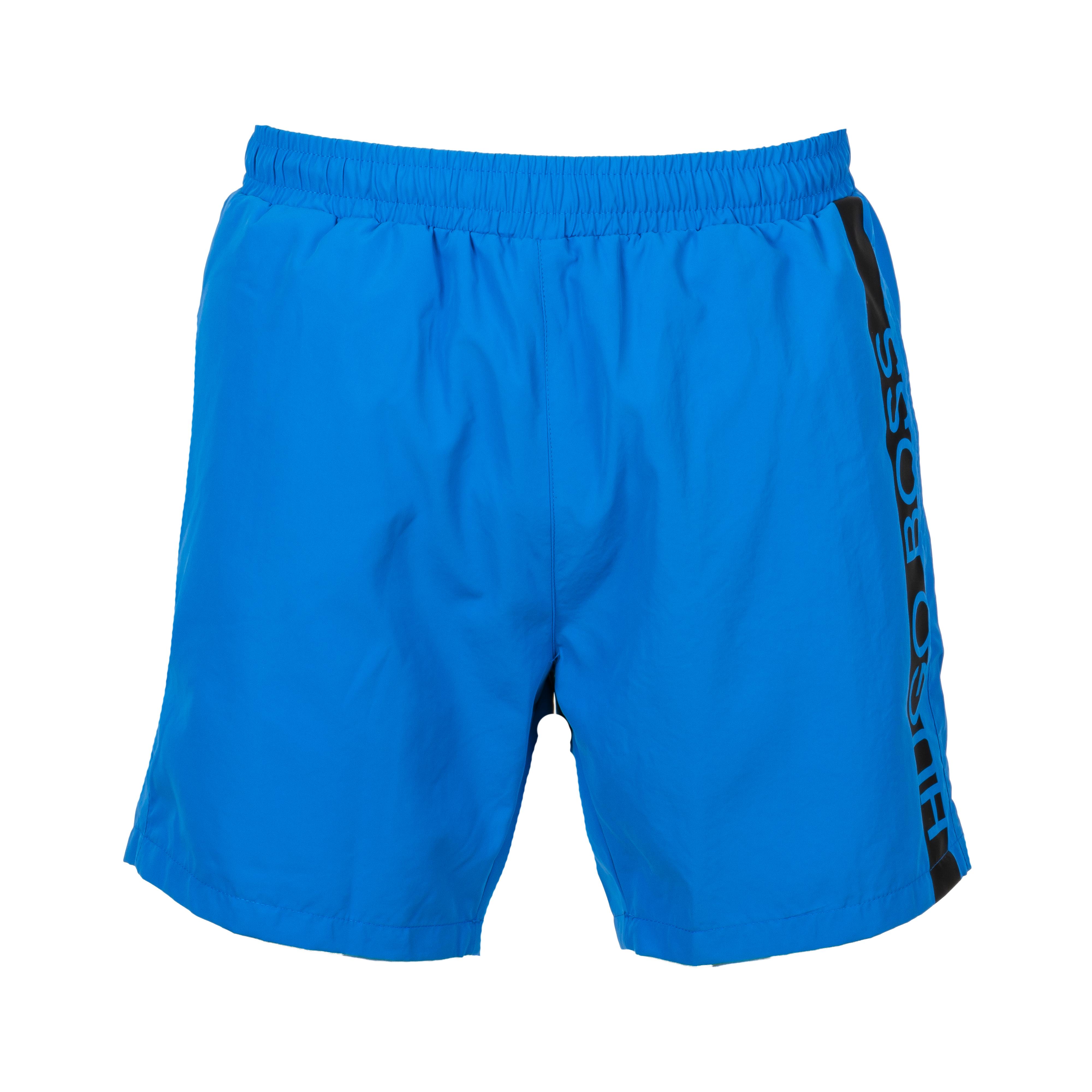 Short de bain  bleu cobalt à bande noire logotypée