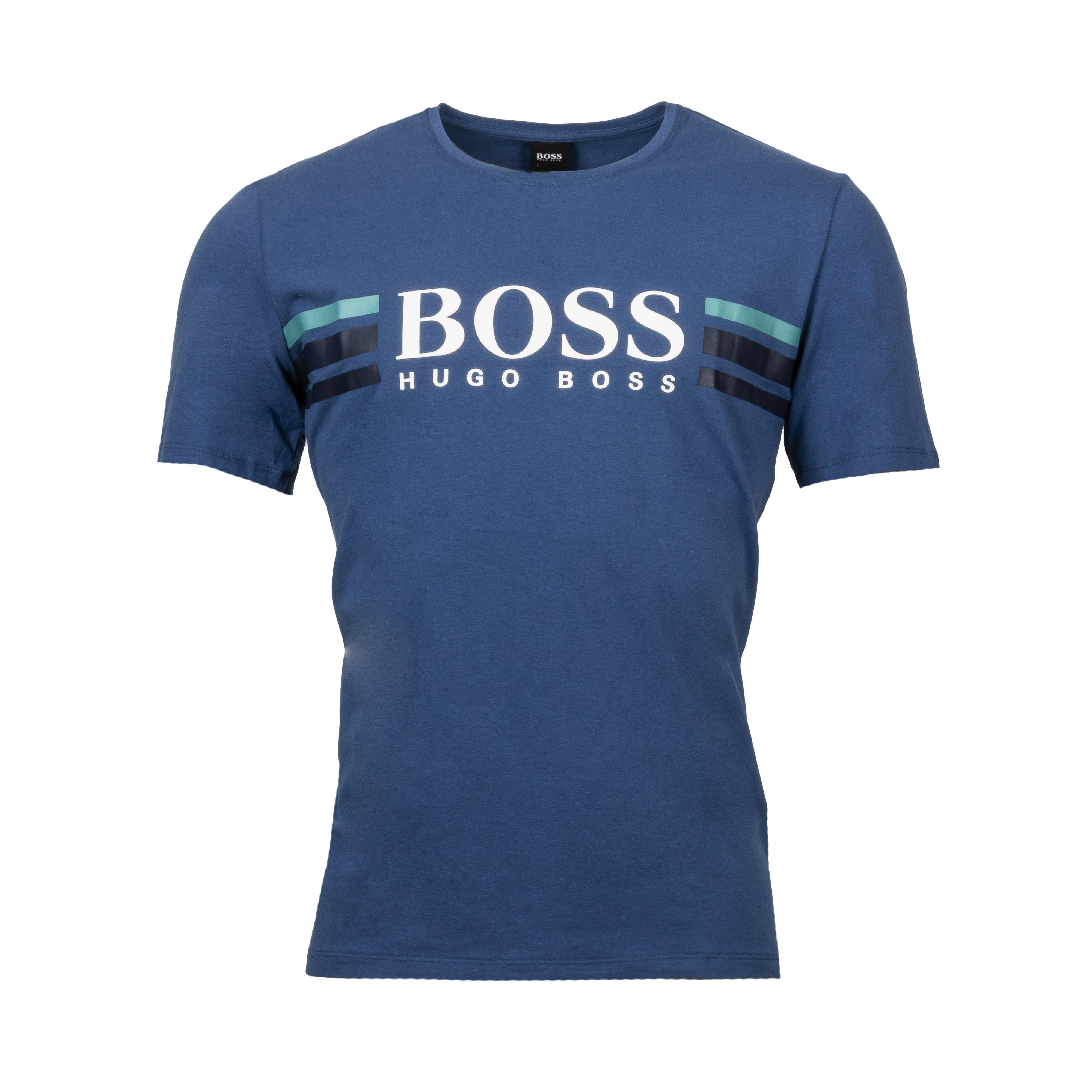 Tee-shirt col rond  urban en coton stretch bleu marine