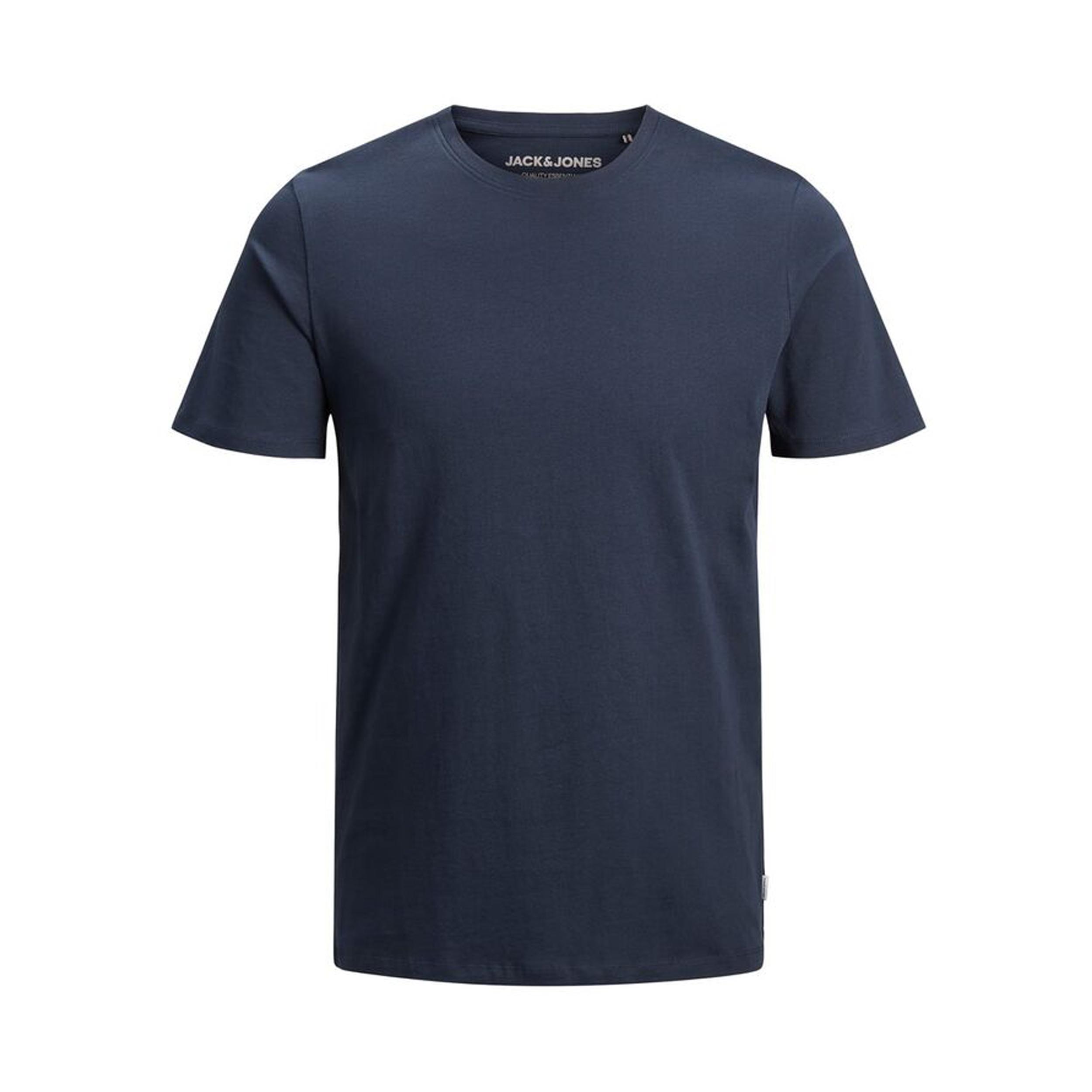 Tee-shirt col rond  organic en coton biologique bleu marine