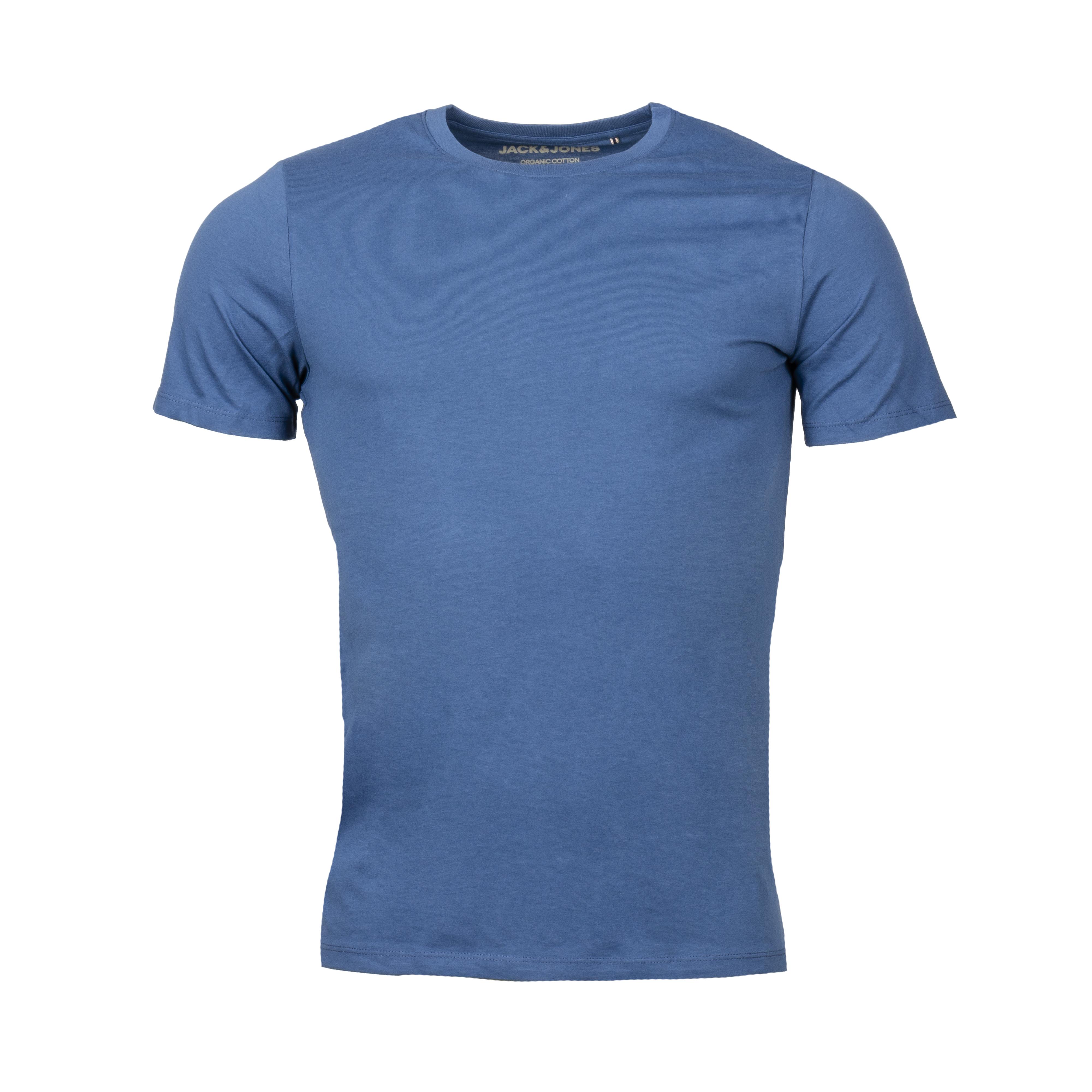 Tee-shirt col rond  organic en coton biologique bleu pétrole