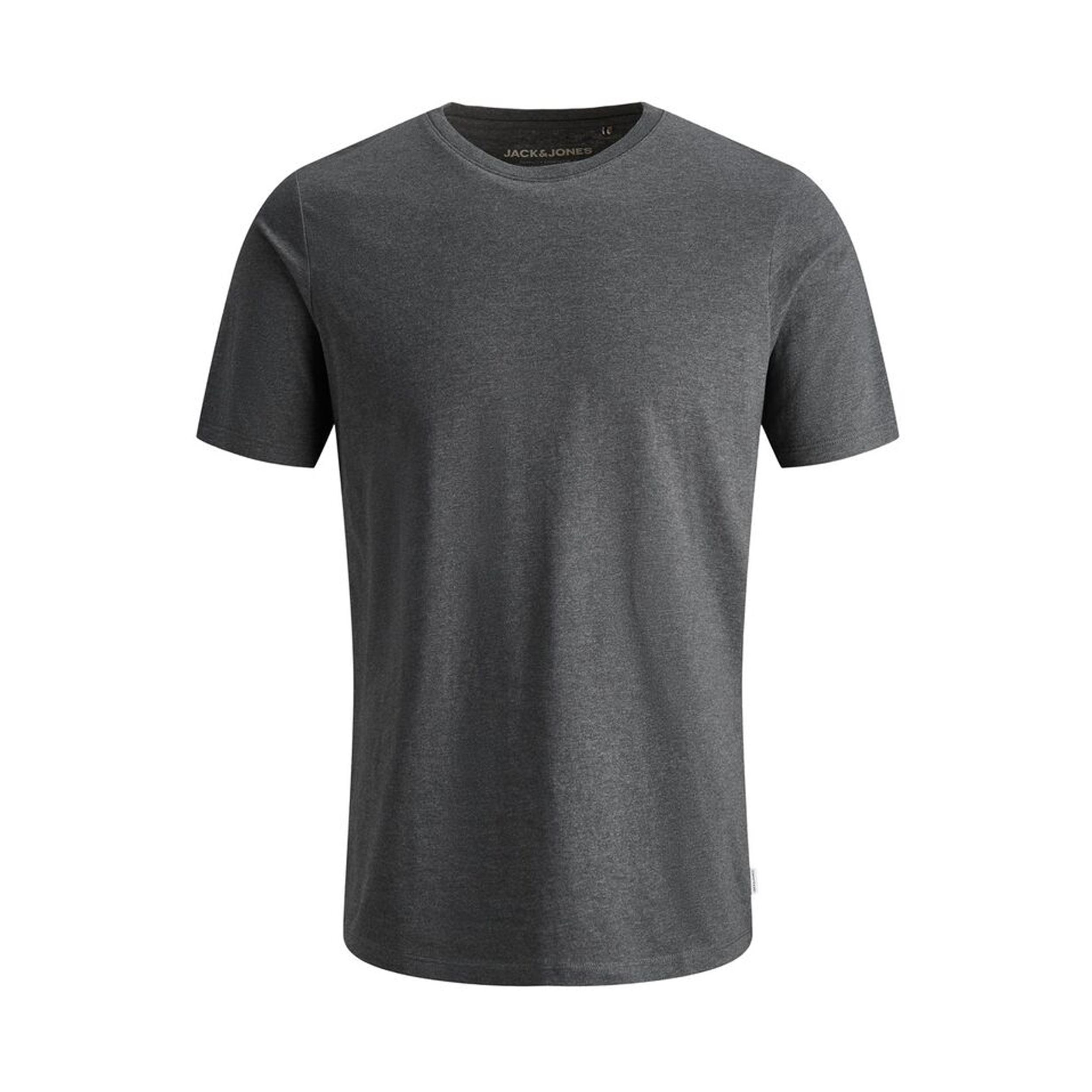 Tee-shirt col rond  organic en coton biologique gris anthracite chiné
