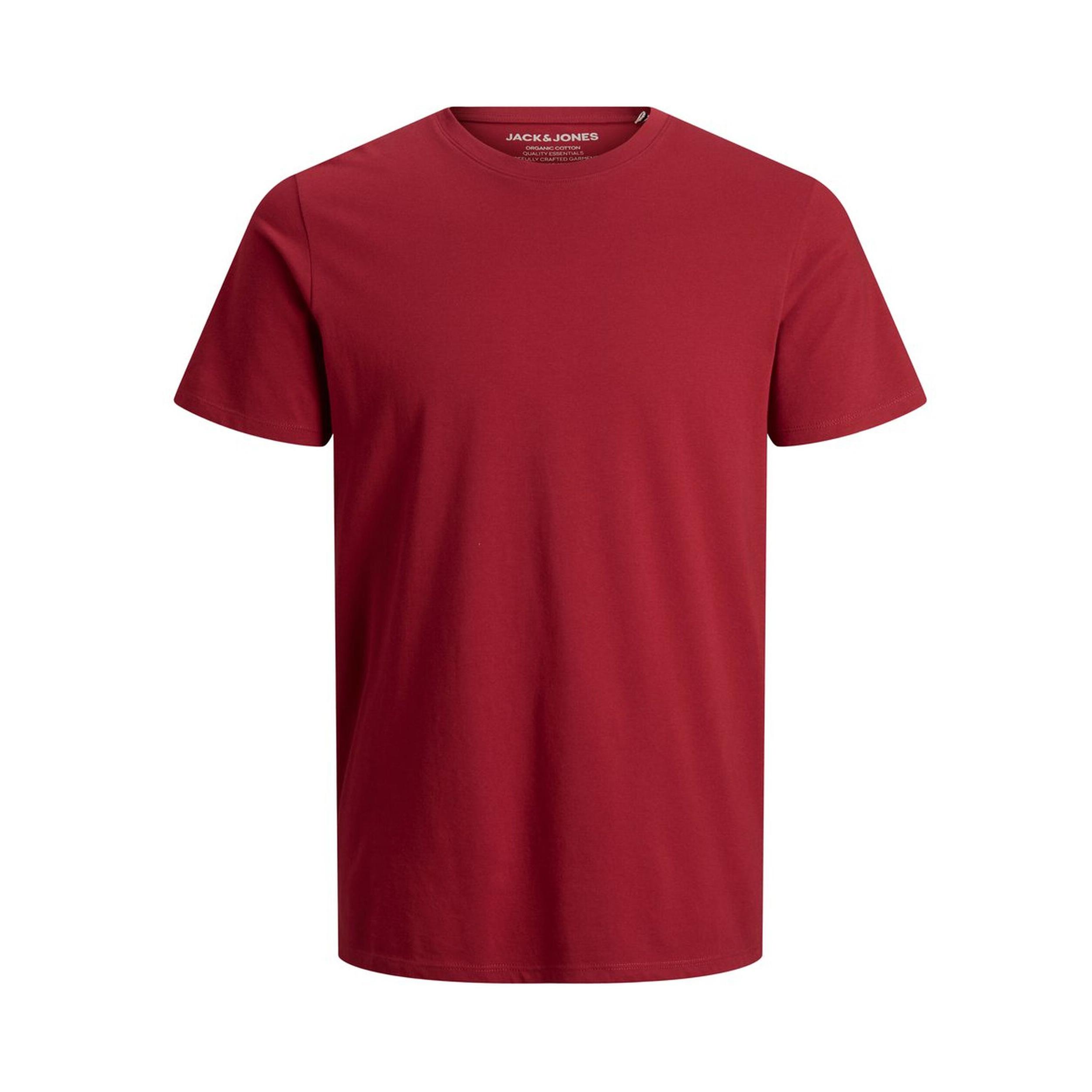 Tee-shirt col rond  organic en coton biologique rouge
