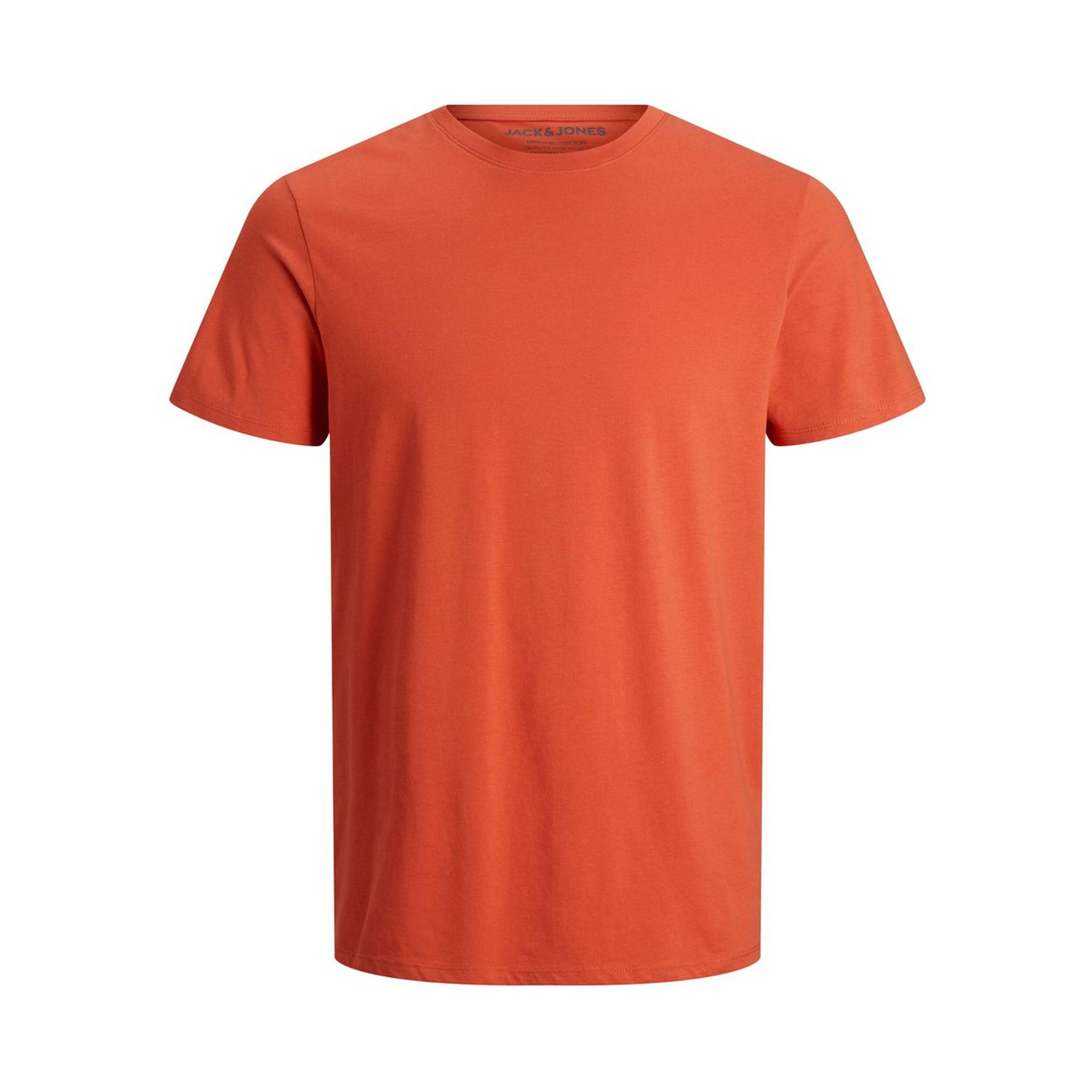 Tee-shirt col rond  organic en coton biologique rouge orangé