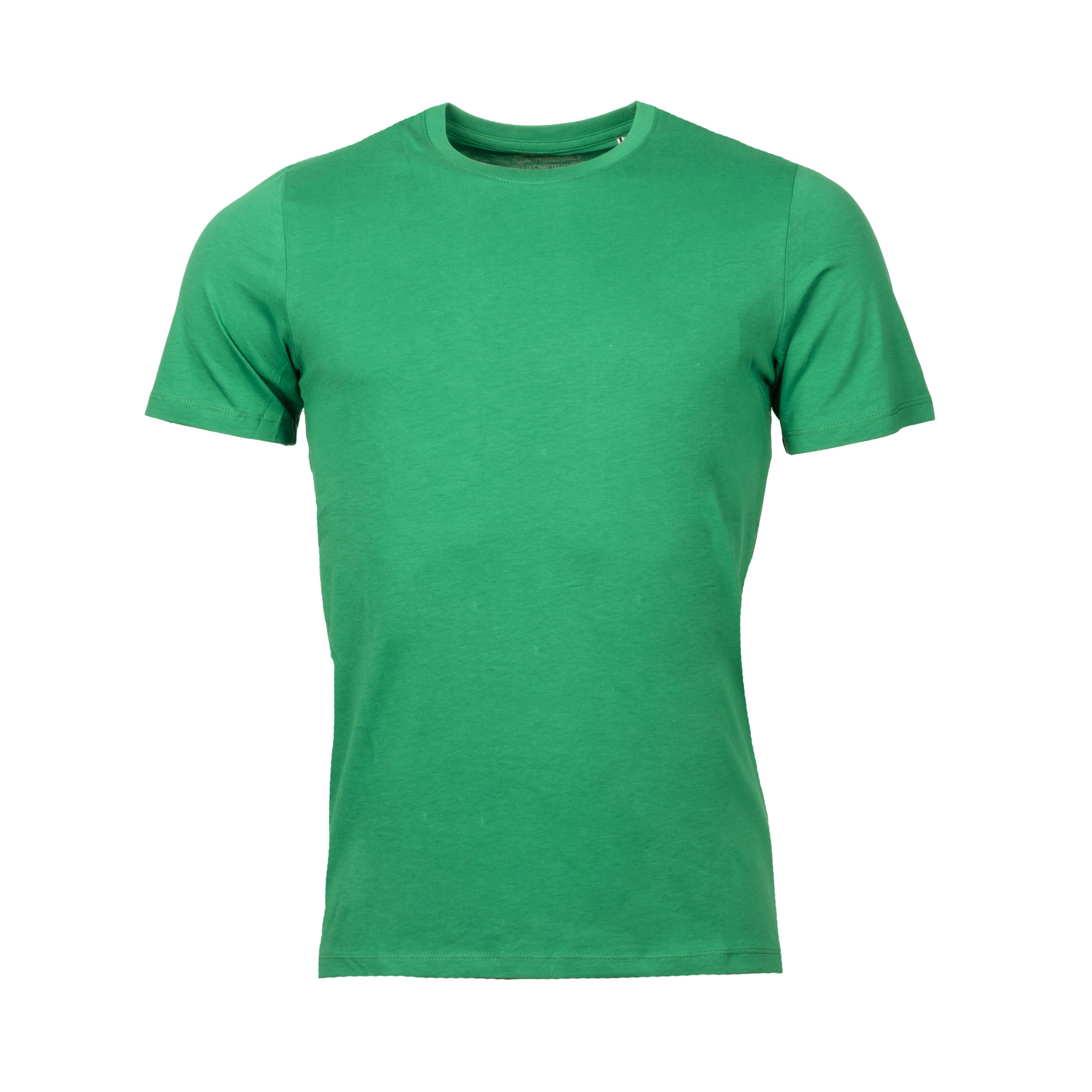 Tee-shirt col rond  organic en coton biologique vert