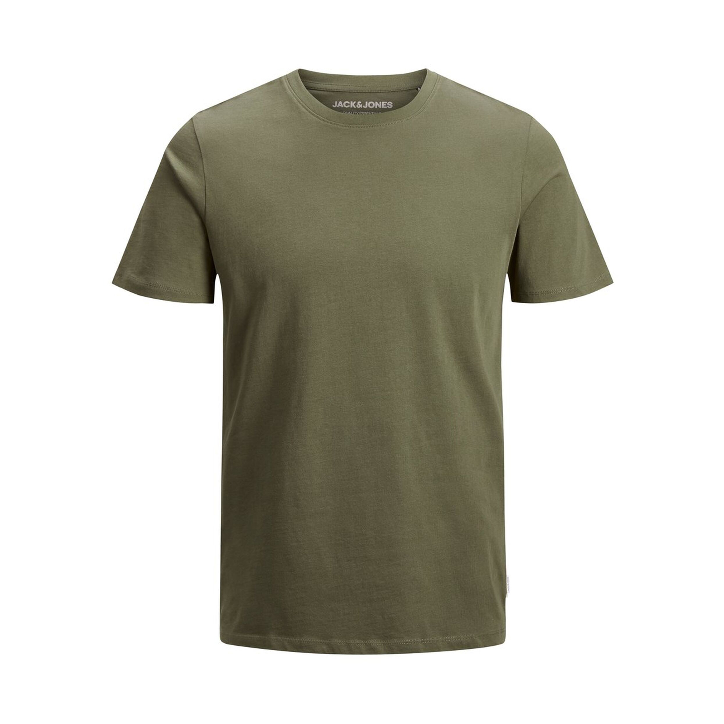 Tee-shirt col rond  organic en coton biologique vert kaki