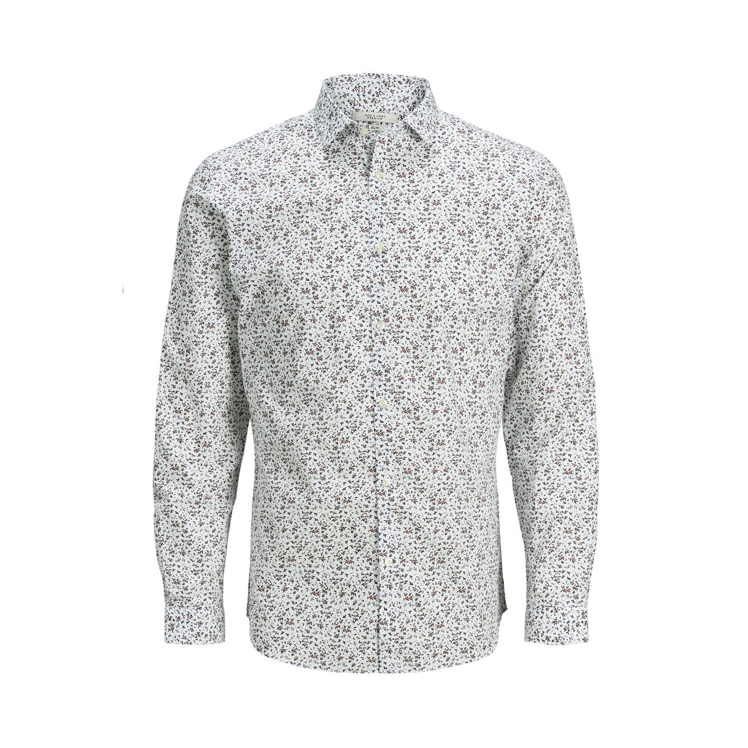 Chemise cintrée jack&jones en coton blanc à motifs fleuris