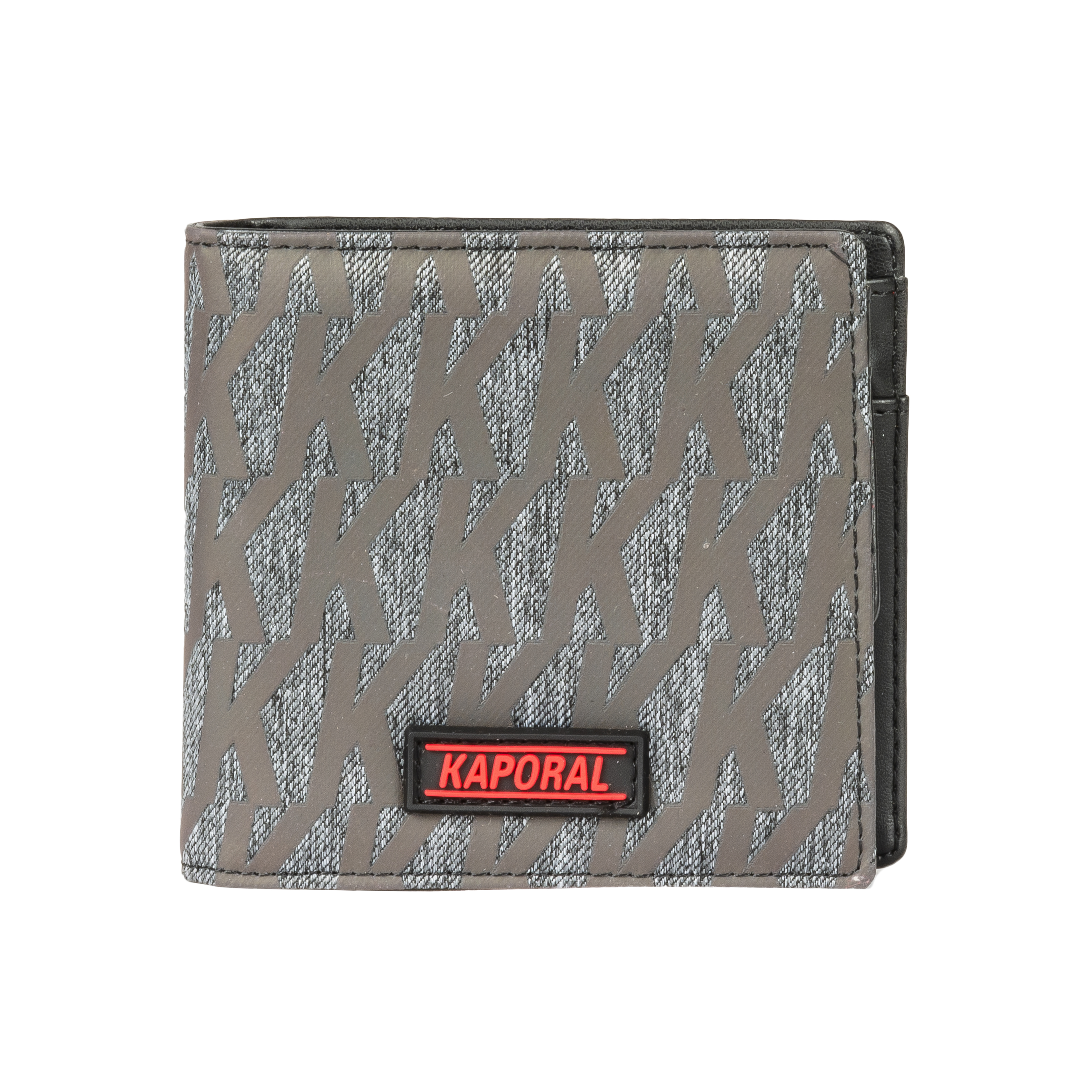 Portefeuille italien  gris anthracite logotypé