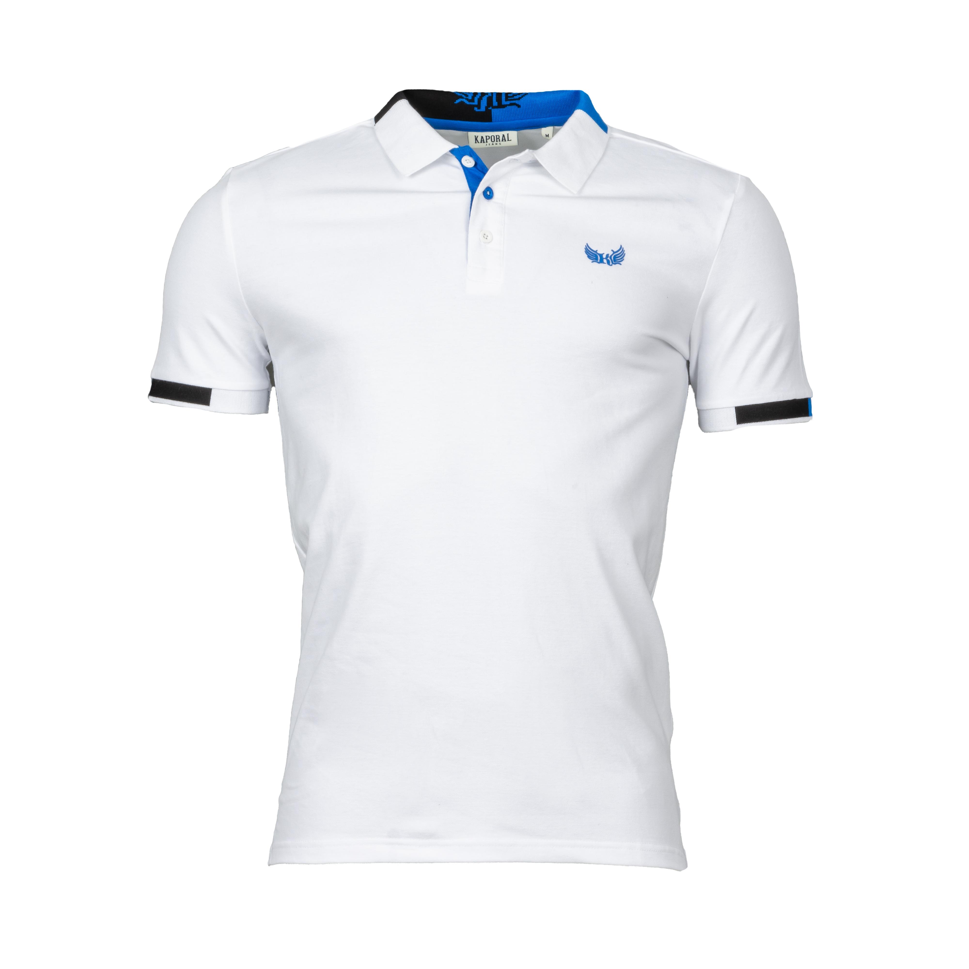 Polo  modu en coton stretch blanc