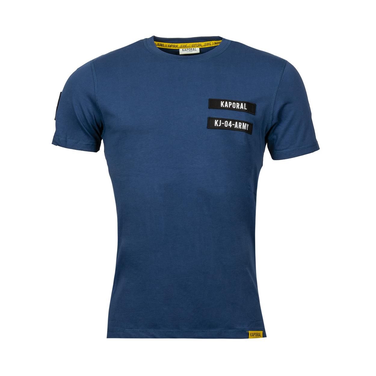 Tee-shirt col rond  tarmy en coton bleu marine