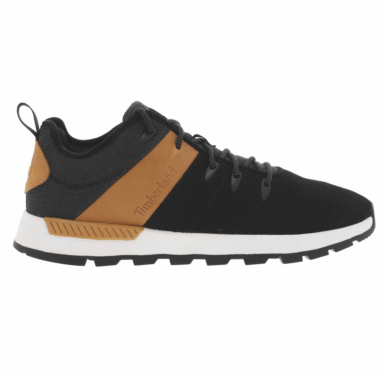 Chaussures mi-hautes  sprint trekker en toile noire et cuir camel