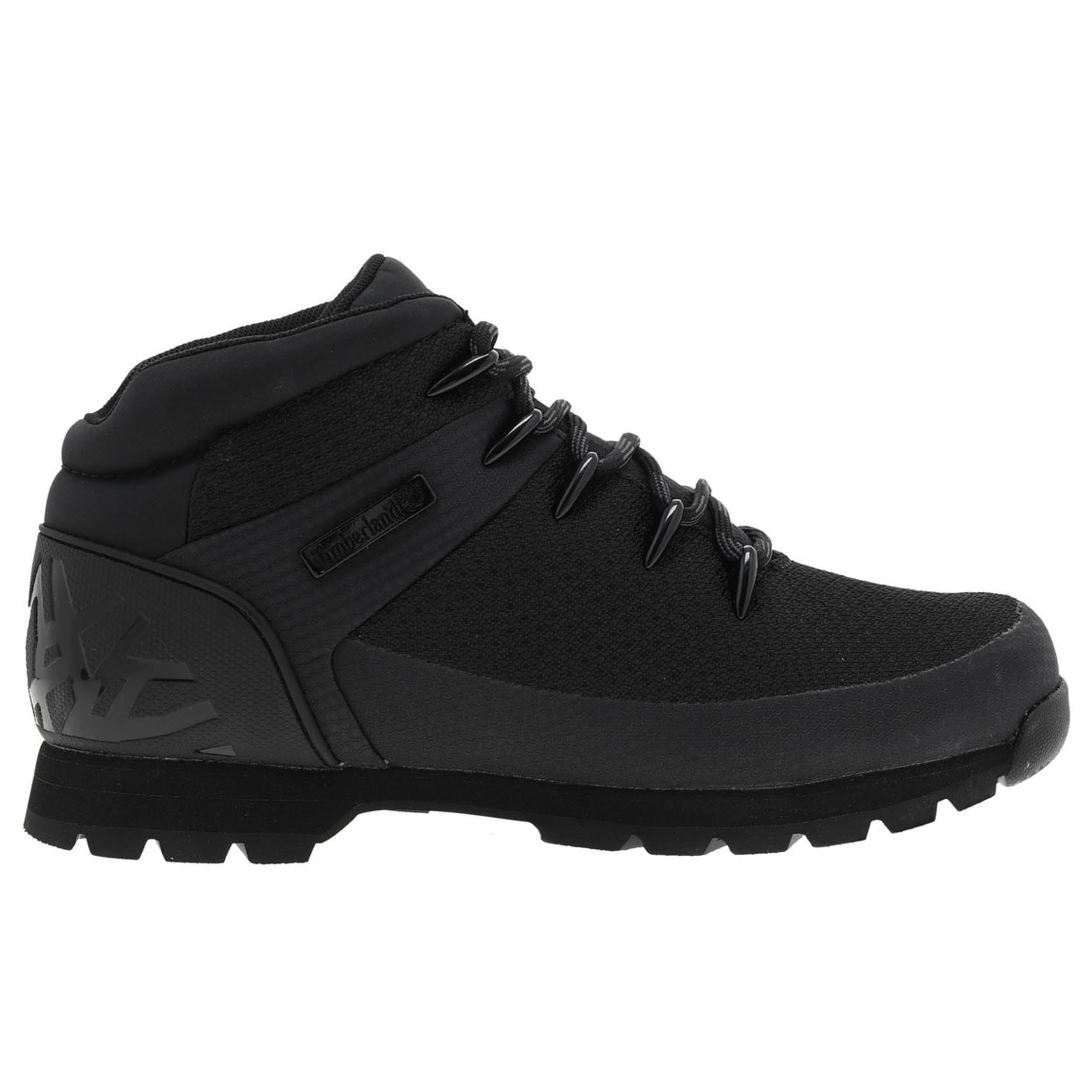 Chaussures montantes  euro sprint waterproof en toile noire