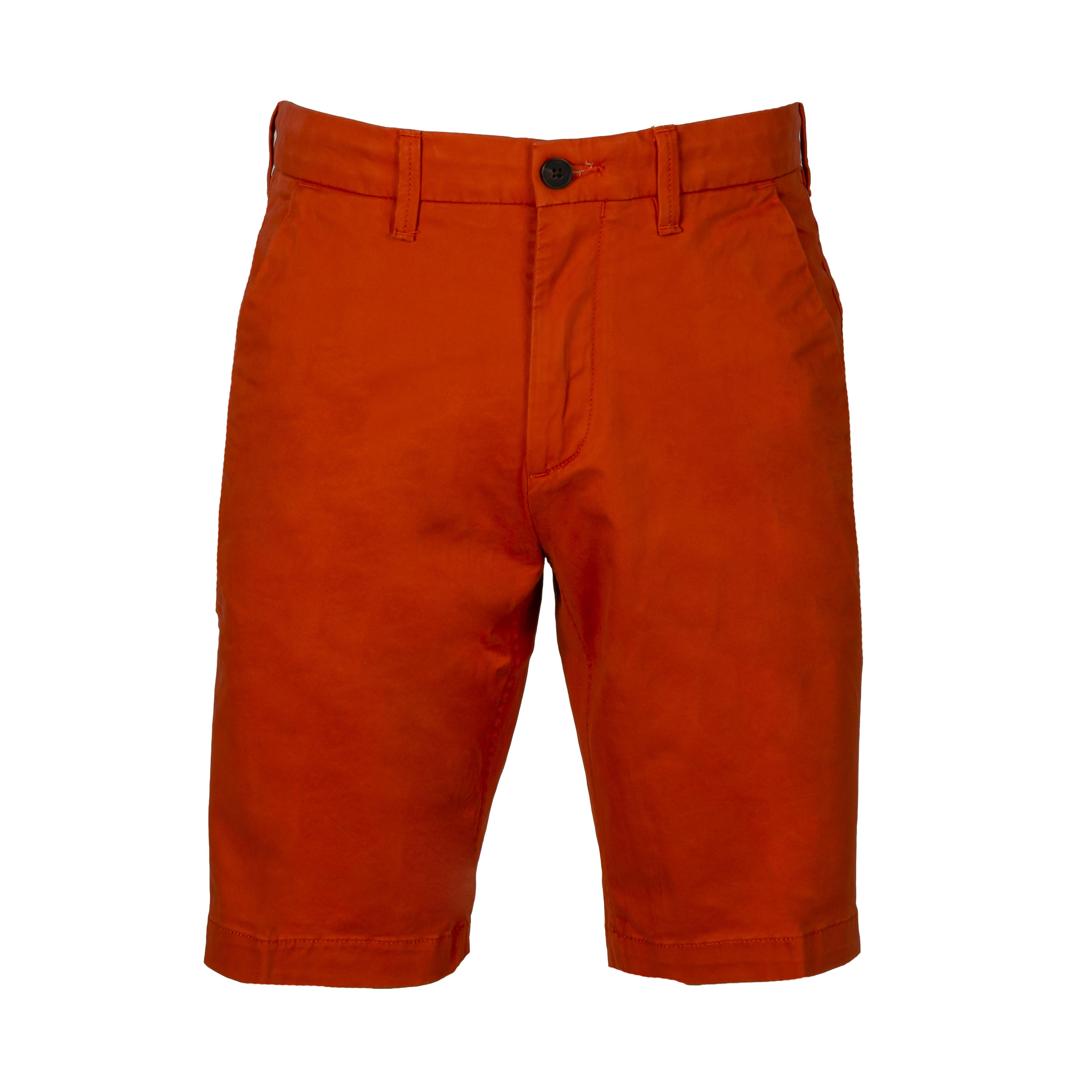 Bermuda  chino en coton stretch orange