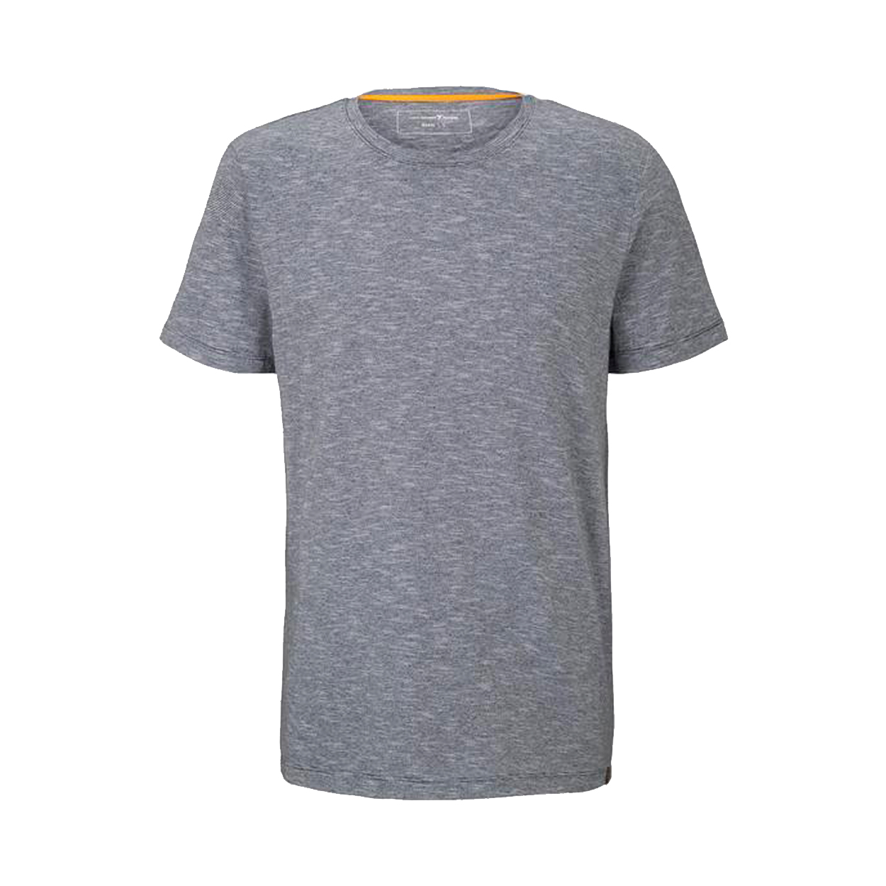 Tee-shirt col rond  en coton bleu ciel à fines rayures