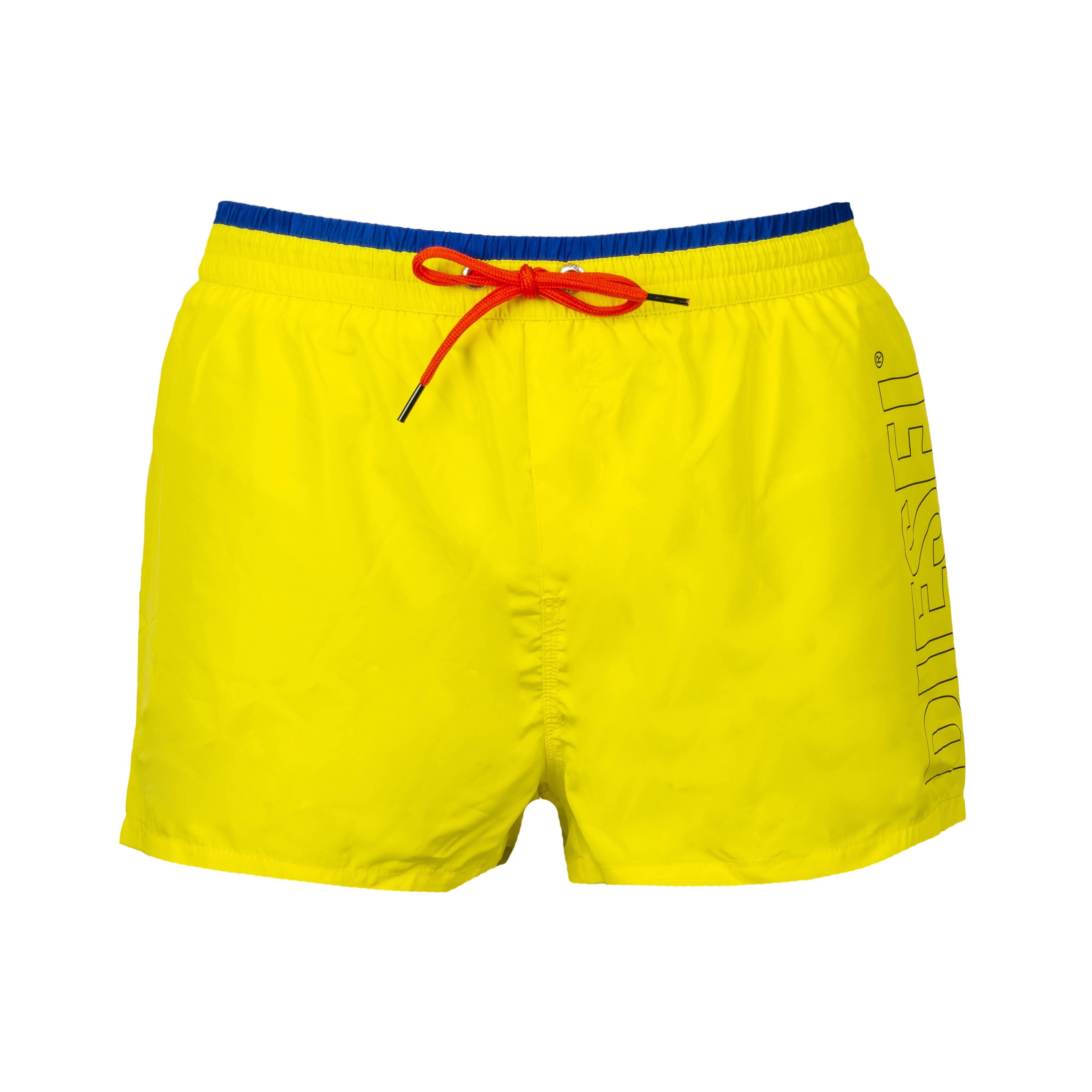 Short de bain diesel sandy jaune à logo