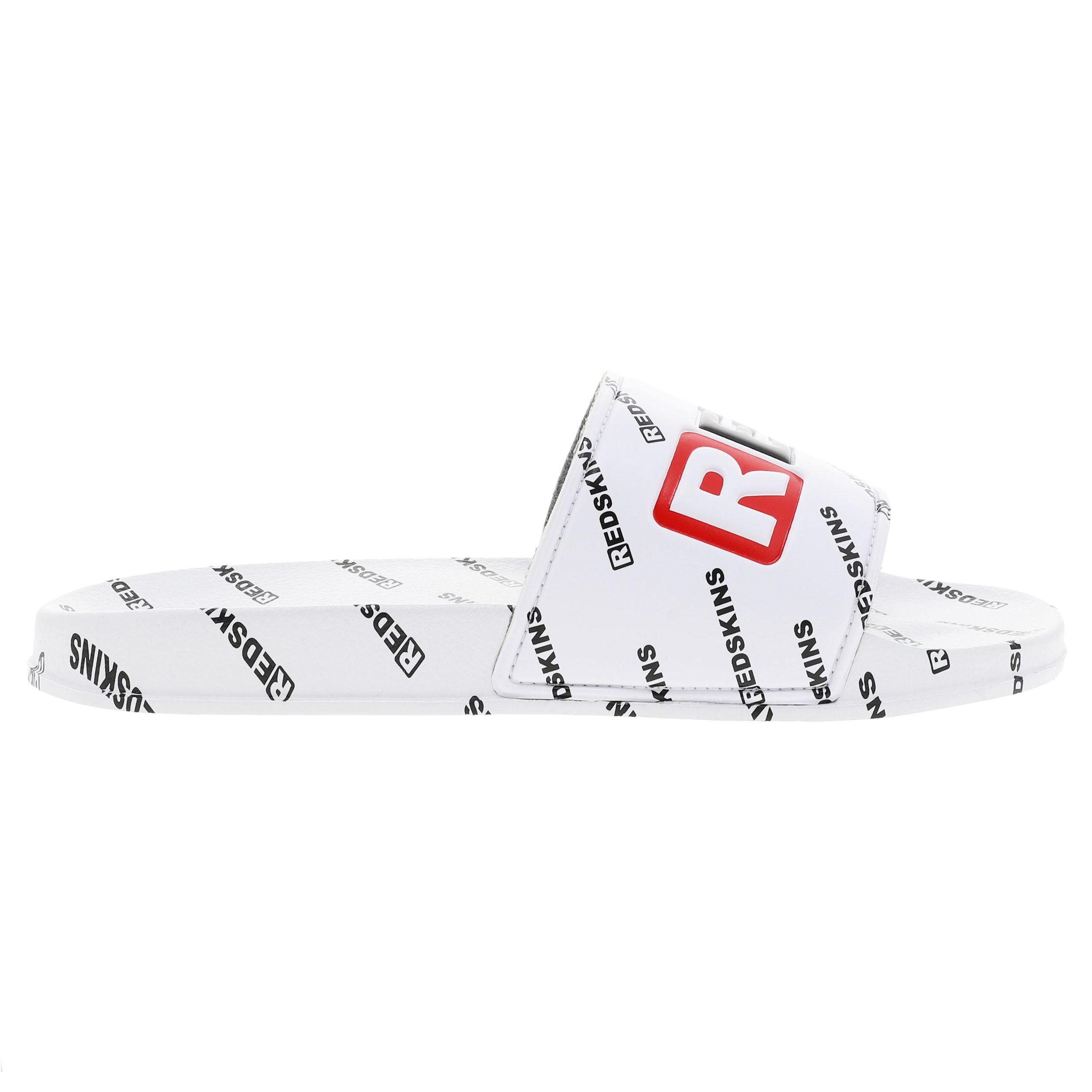 Sandales  clak blanches logotypées en noir