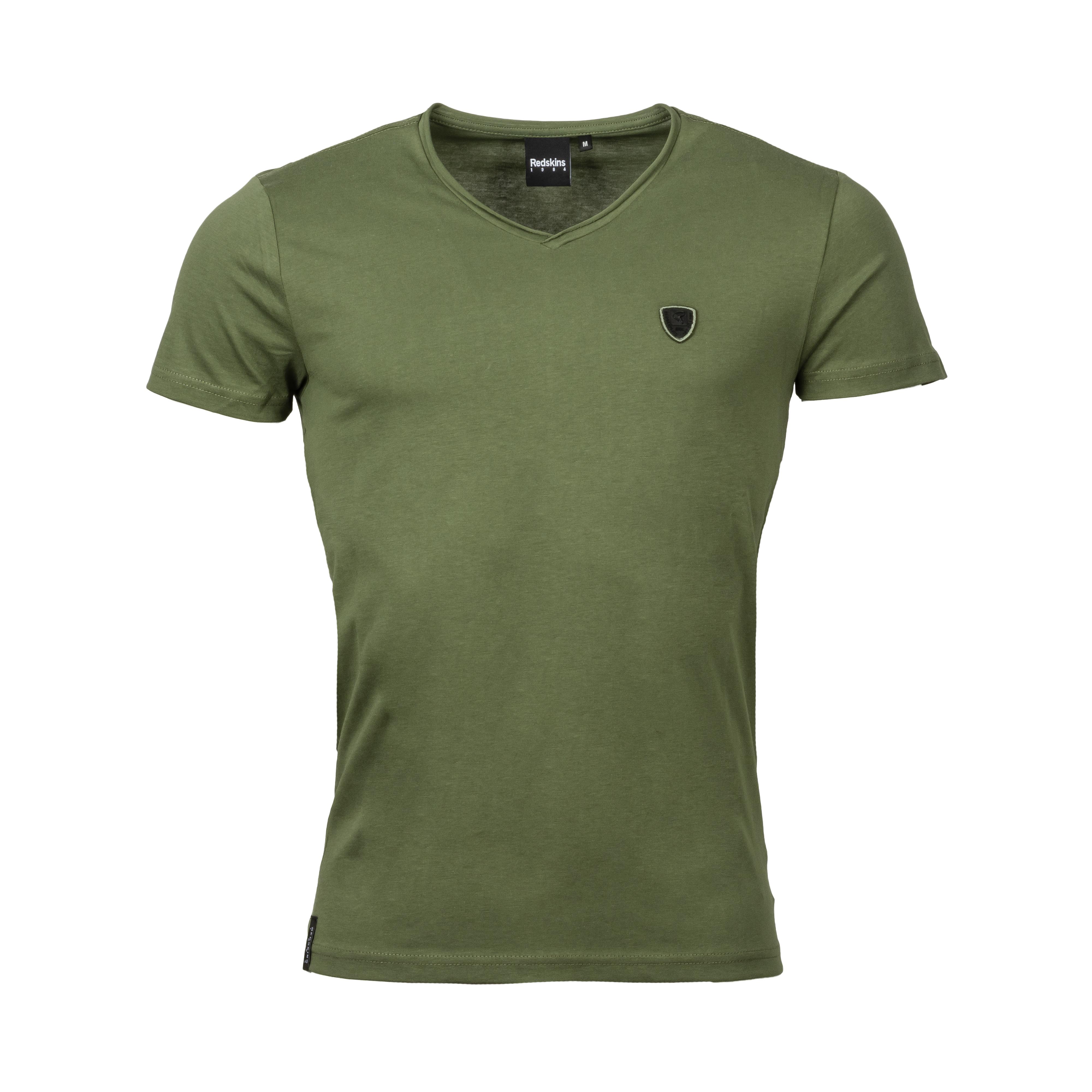 Tee-shirt col v  mint 2 aden en coton kaki