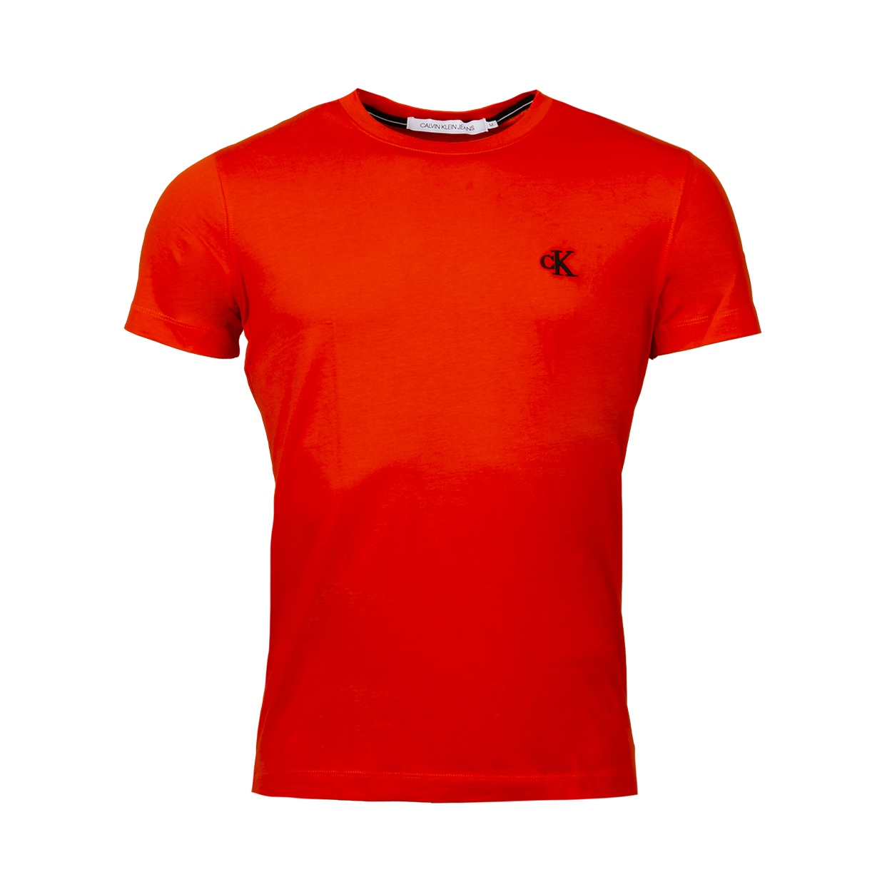Tee-shirt col rond  essential en coton rouge