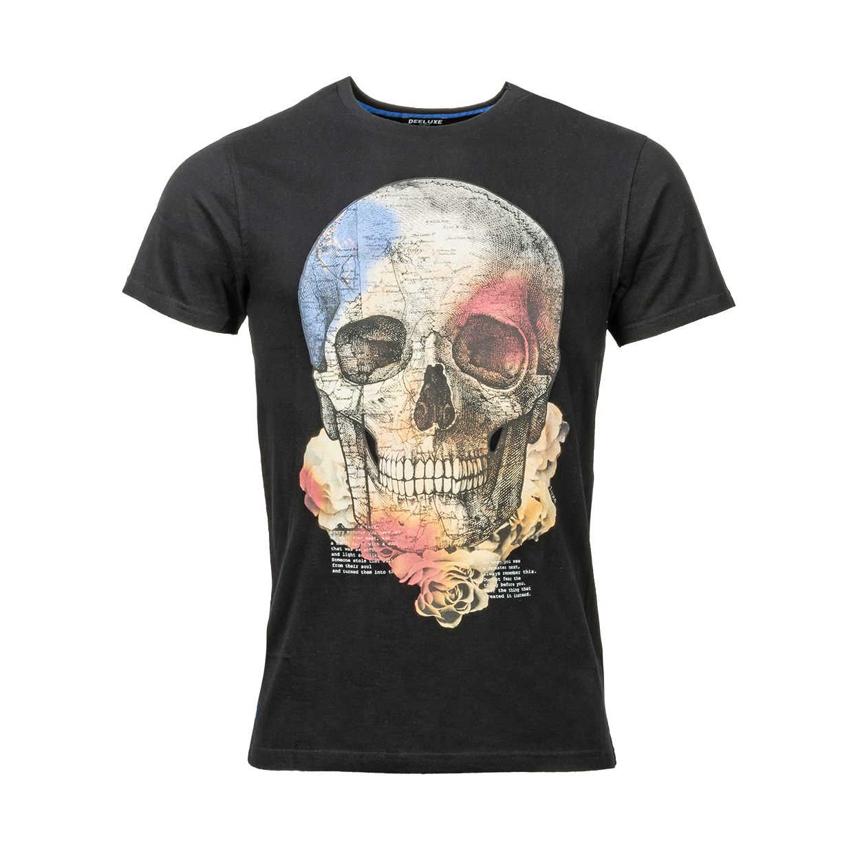 Tee-shirt col rond  jacky en coton noir floqué