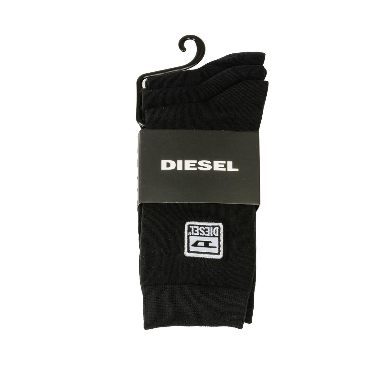 Lot de 3 paires de chaussettes diesel ray en coton mélangé noir