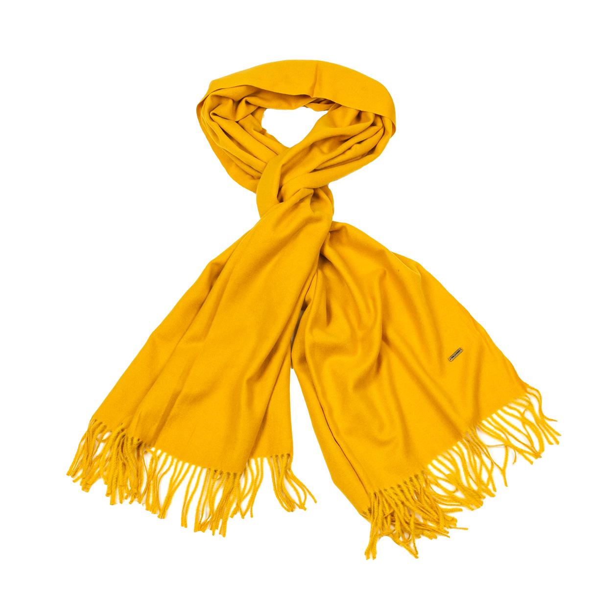 Echarpe  occitan jaune moutarde
