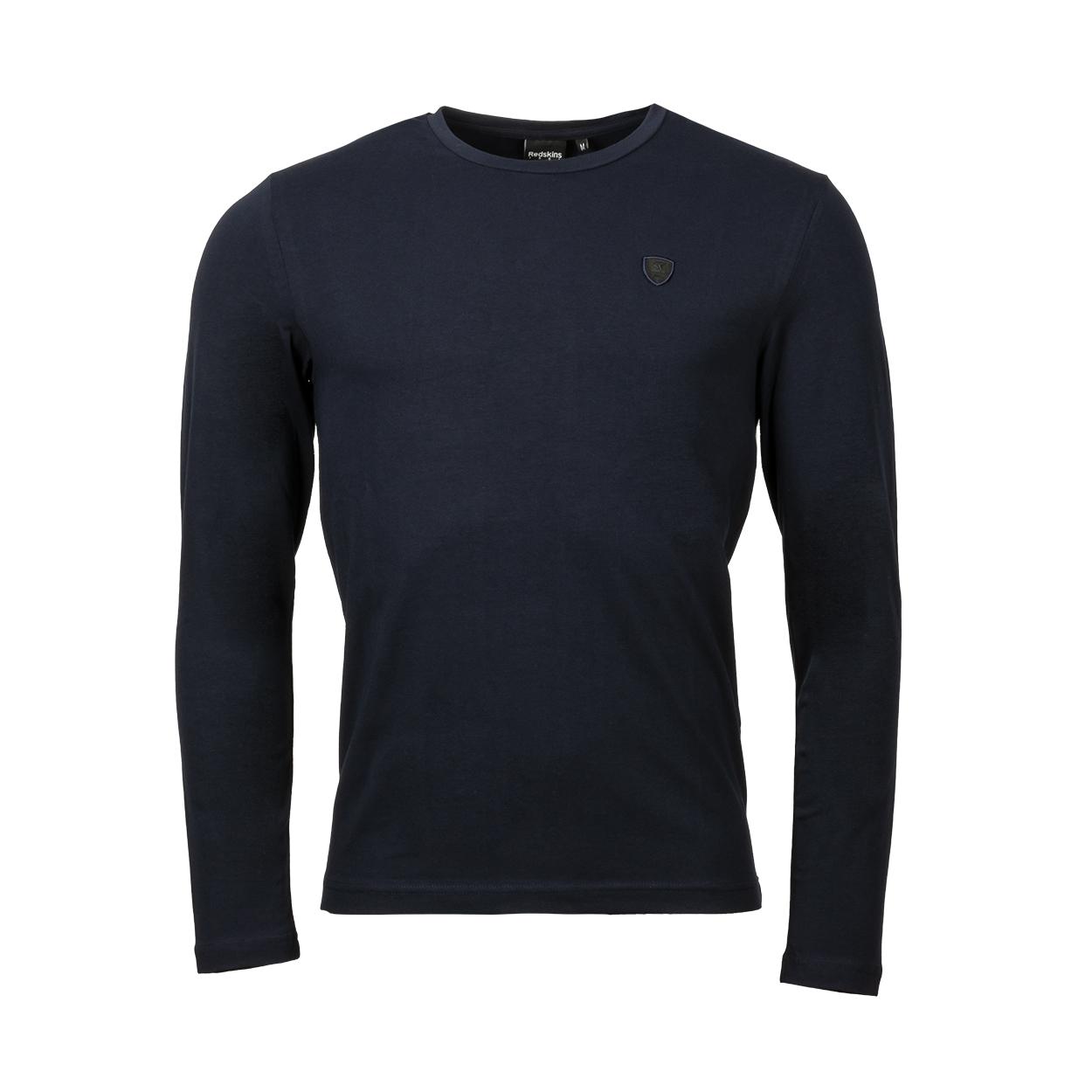 Tee-shirt col rond  reiner en coton stretch bleu marine