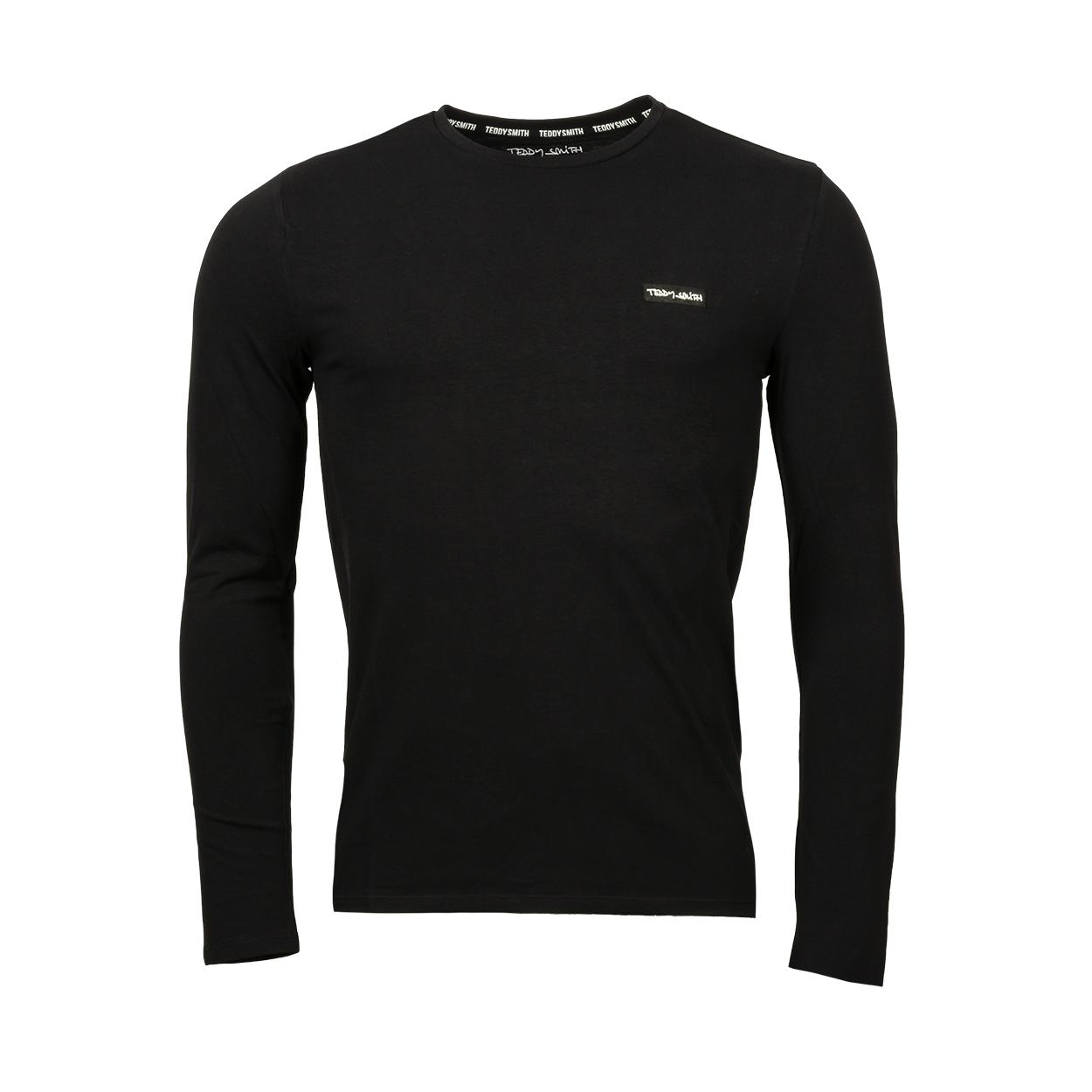 Tee-shirt manches longues Teddy Smith Narky en coton stretch noir
