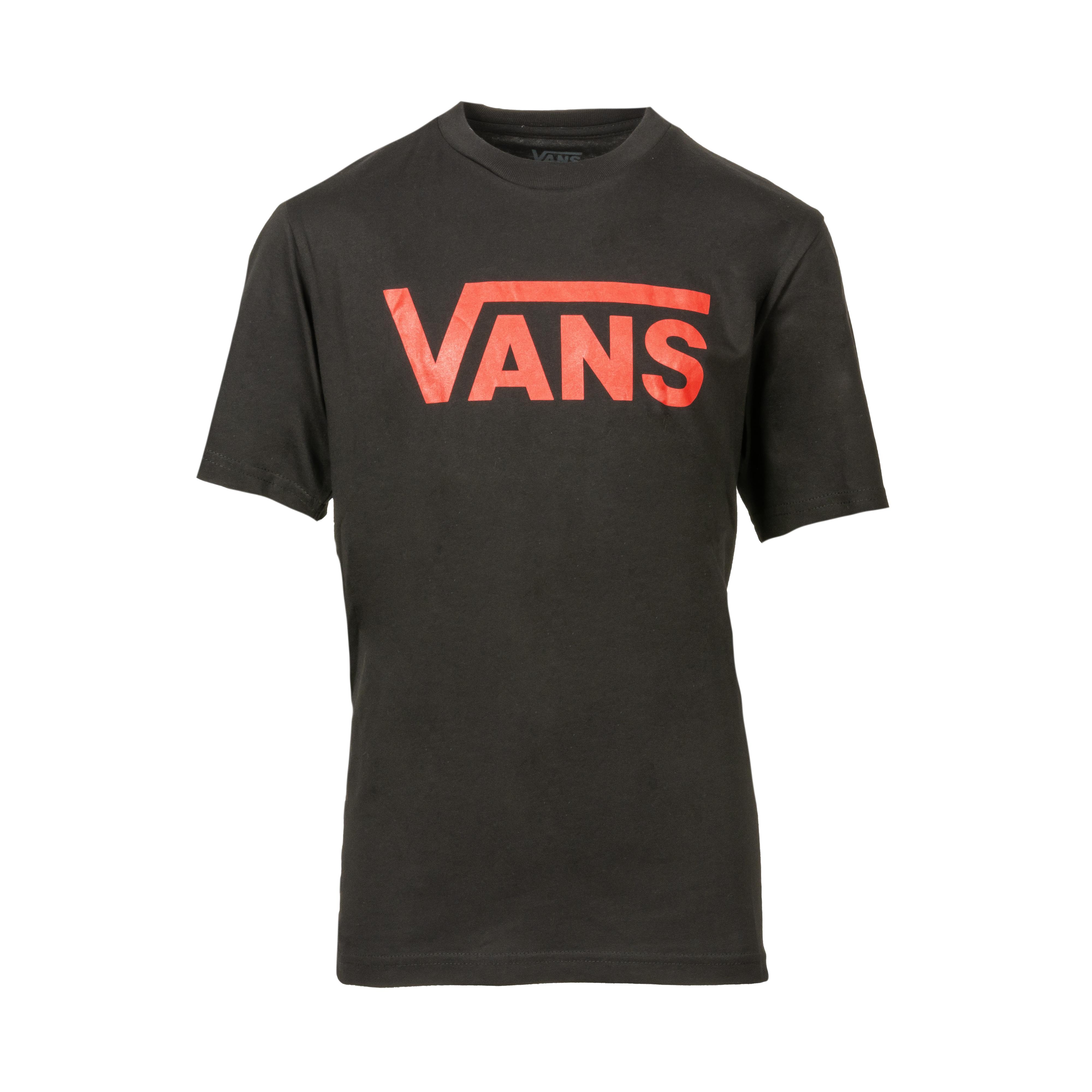 Tee-shirt col rond  classic boys en coton noir floqué en rouge