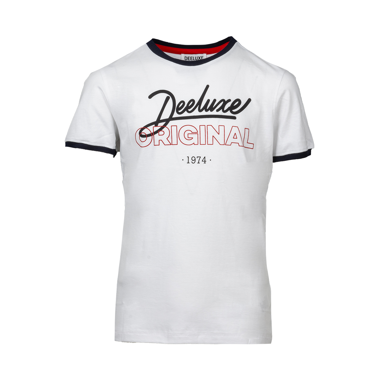 Tee-shirt col rond  hylton en coton blanc floqué
