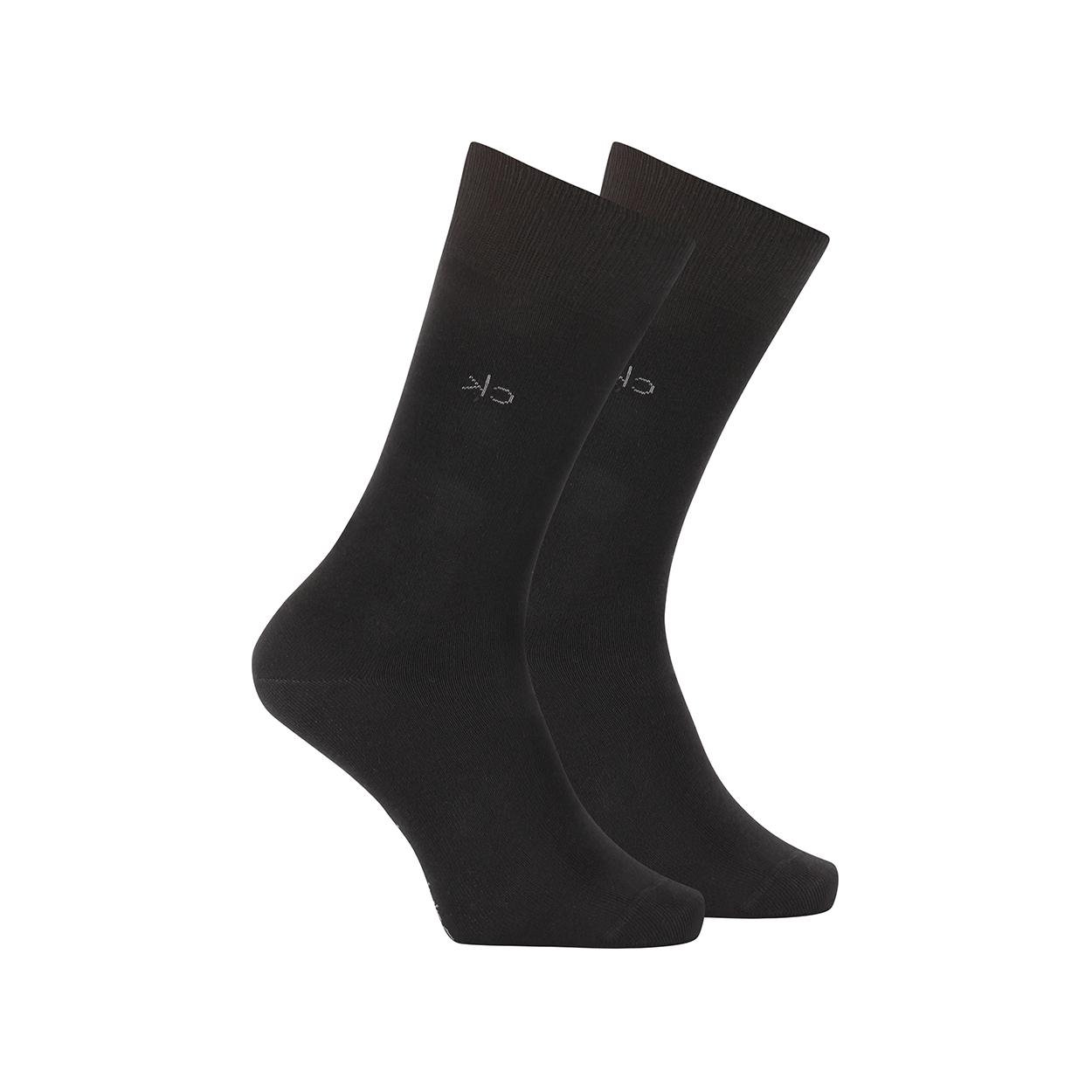 Lot de 2 paires de chaussettes hautes calvin klein en coton mélangé stretch noir