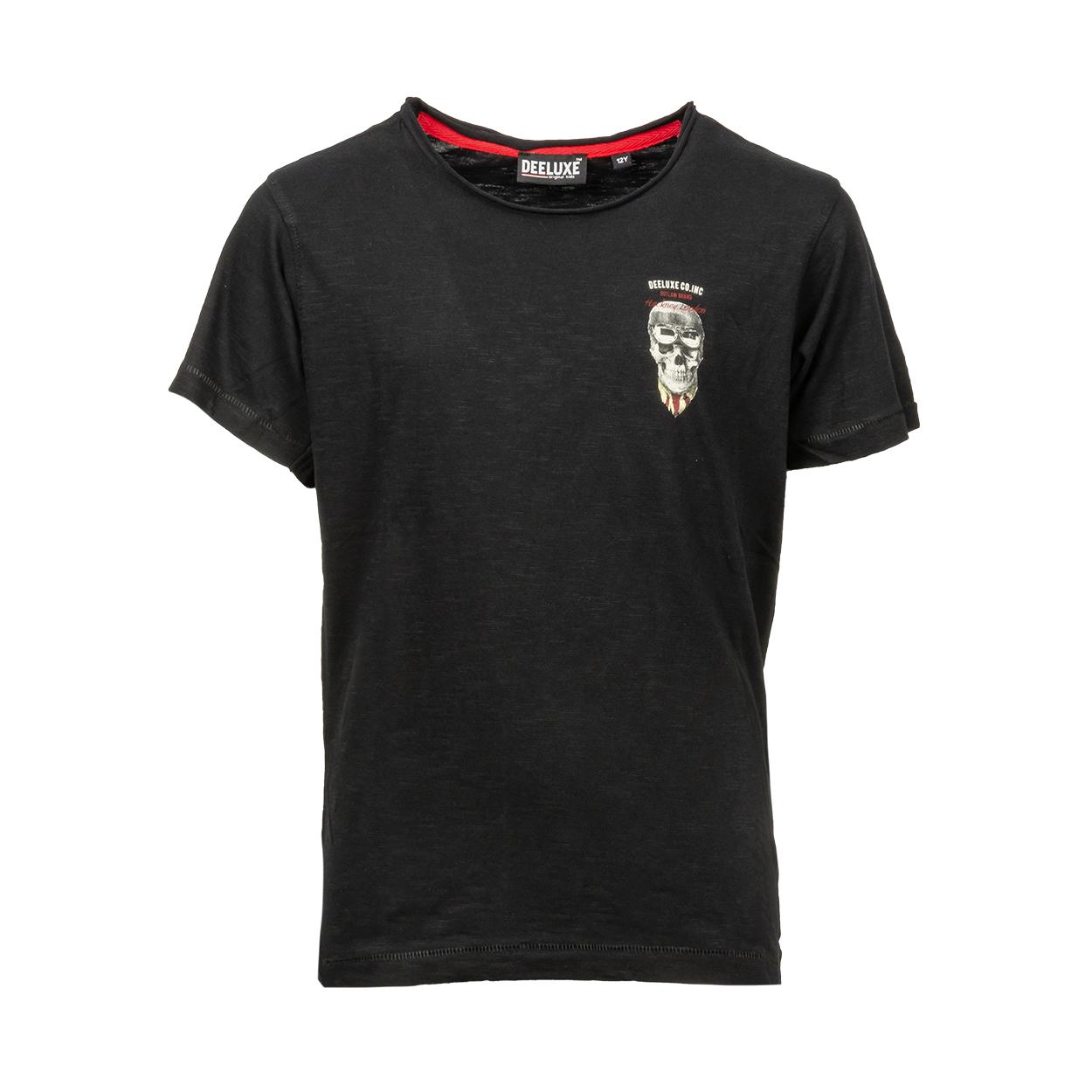 Tee-shirt col rond  clemson en coton noir floqué