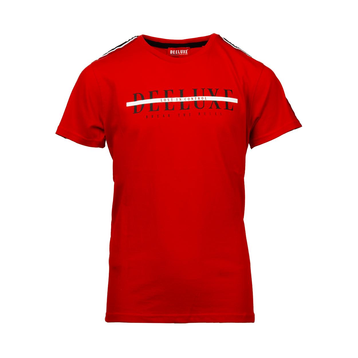Tee-shirt col rond  ralf en coton rouge floqué