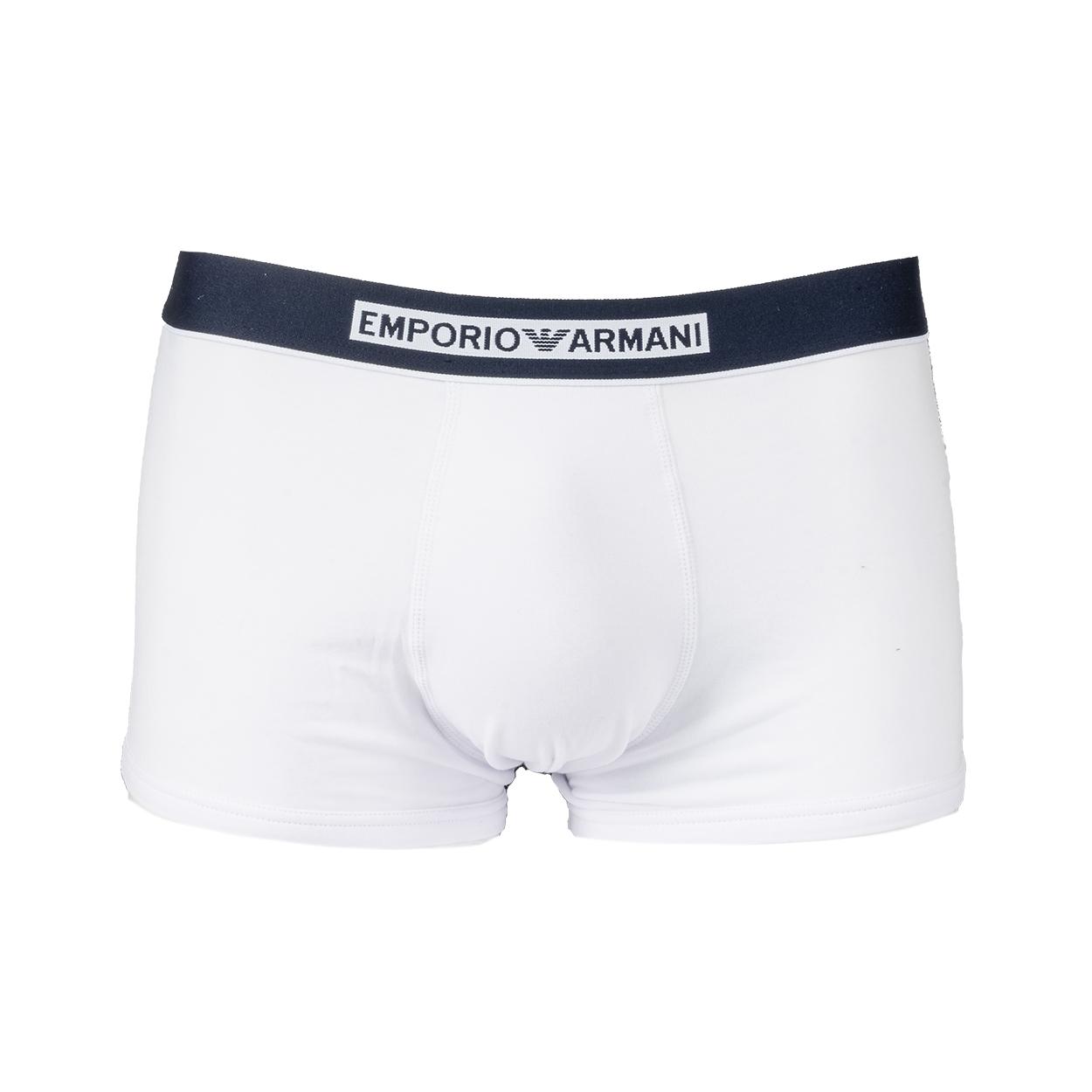 Boxer  en coton stretch blanc