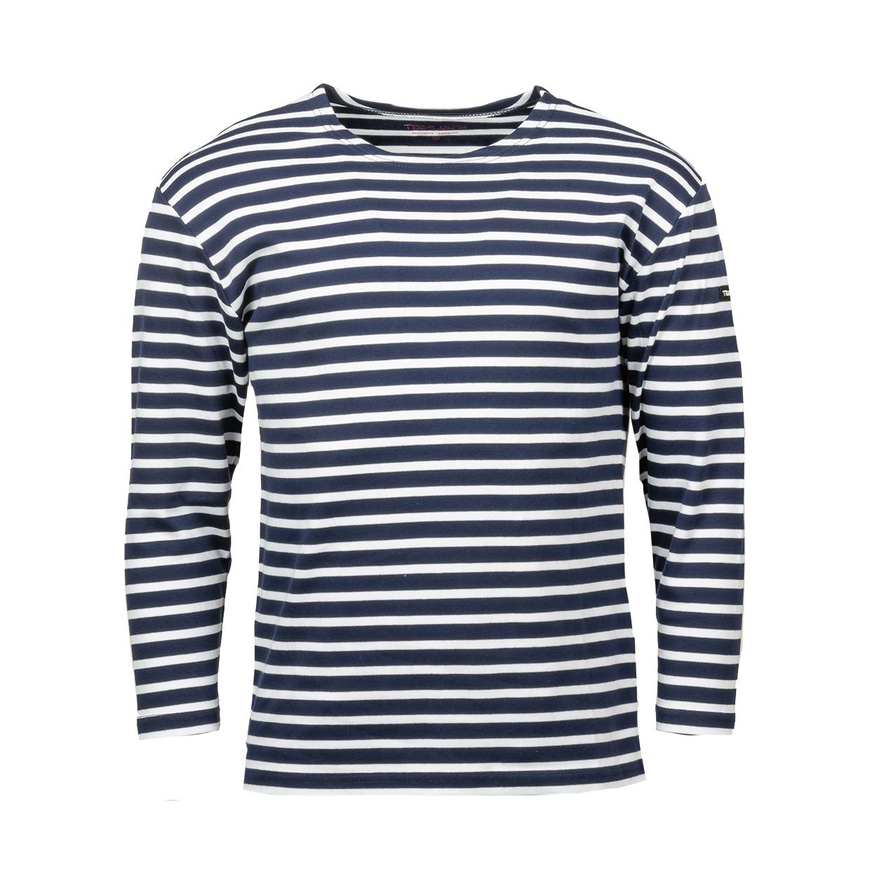 Tee-shirt manches longues Teddy Smith T-Ocean en coton bleu marine à rayures blanches
