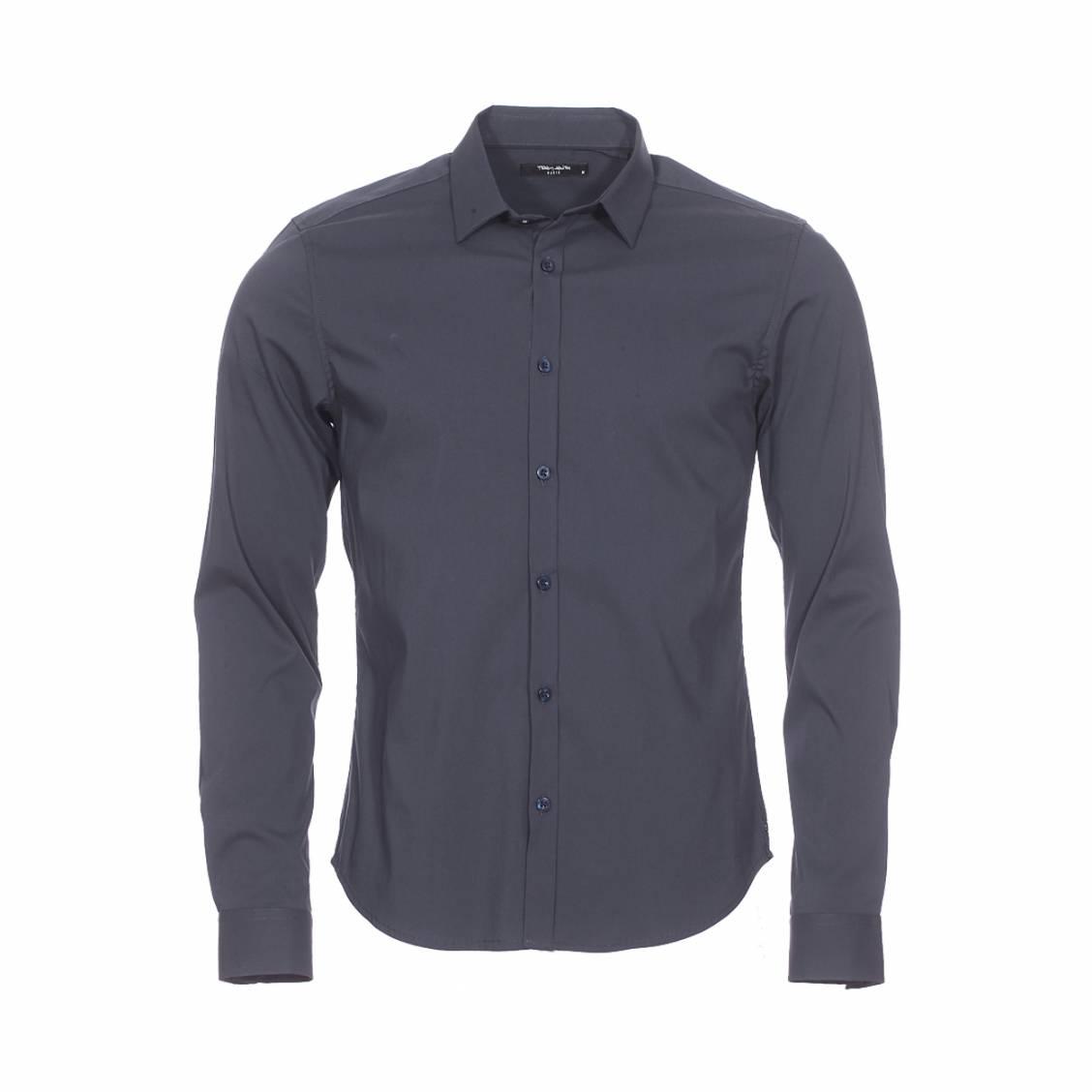 Chemise ajustée Teddy Smith en coton mélangé bleu nuit
