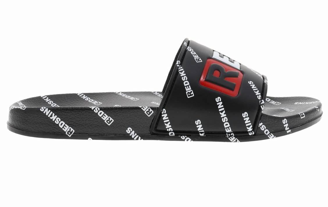 Sandales Redskins Clak noires logotypées en blanc