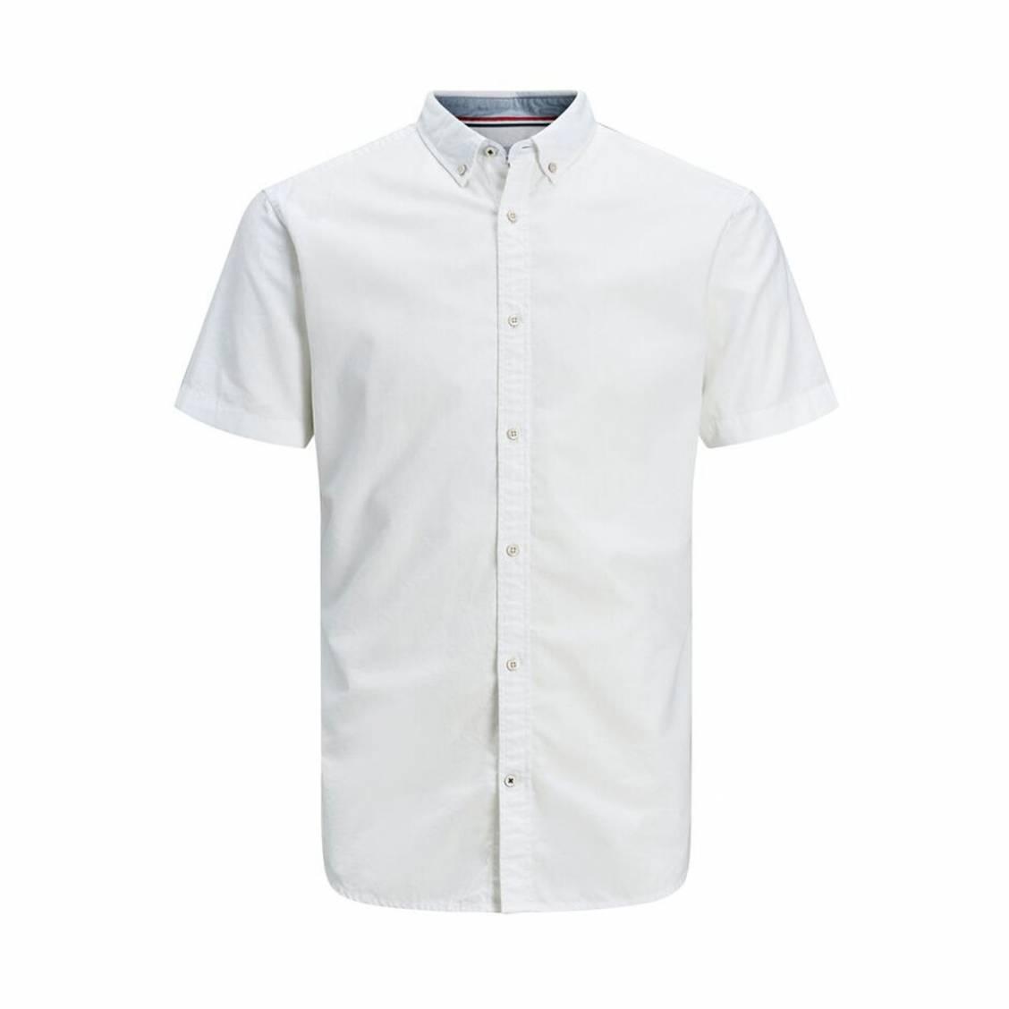 Chemise ajustée Jack & Jones Summer en coton et lin blanc