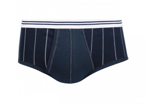 Slip Taille Haute Ouvert Eminence en Pur Coton Hypoallergénique bleu marine