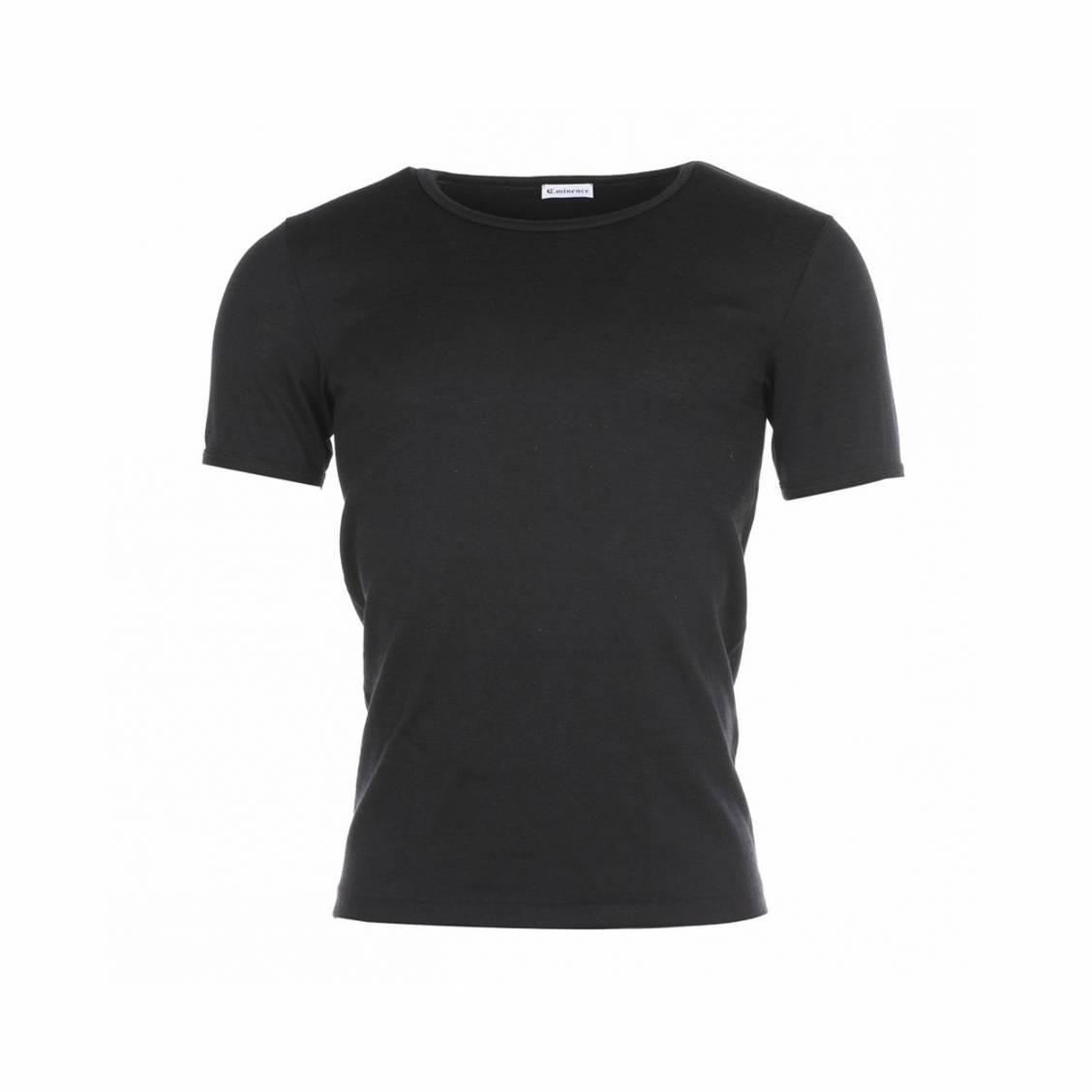 Tee-shirt Eminence col rond, en pur coton hypoallergénique Noir