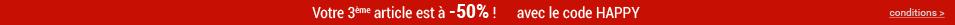 Votre 3ème article à -50% !