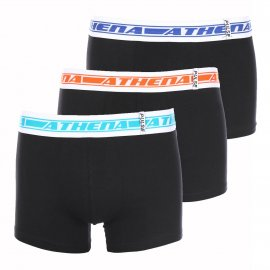 Lot de 3 boxers Athena en coton stretch noir