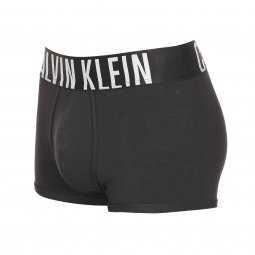 Shorty Calvin Klein en coton stretch noir à large ceinture