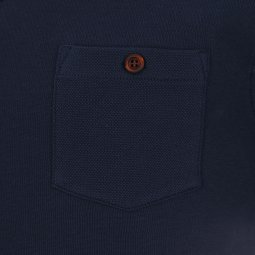 Sweat col rond Selected bleu navy à poche