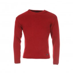 Pull Armor Lux Fouesnant 100% laine vierge rouge piment