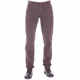 Pantalon ajusté Alpha washed Khaki Dockers en coton marron