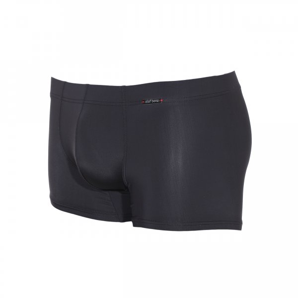 Shorty Casualpants Olaf Benz noir satiné en microfibre