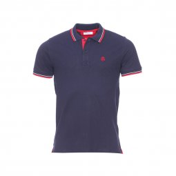 Polo Selected en maille piquée bleu marine