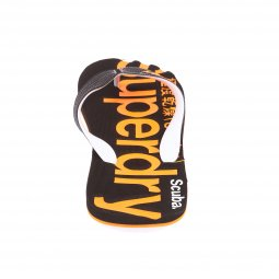 Tongs Scuba Flip Flop Superdry noires et orange fluo