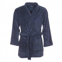 Veste d 39 int rieur arthur bleu encre chevrons noirs for Peignoir interieur homme
