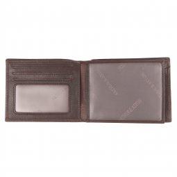 Petit portefeuille européen à volet central Arthur & Aston en cuir lisse chataîgne YEKMzB